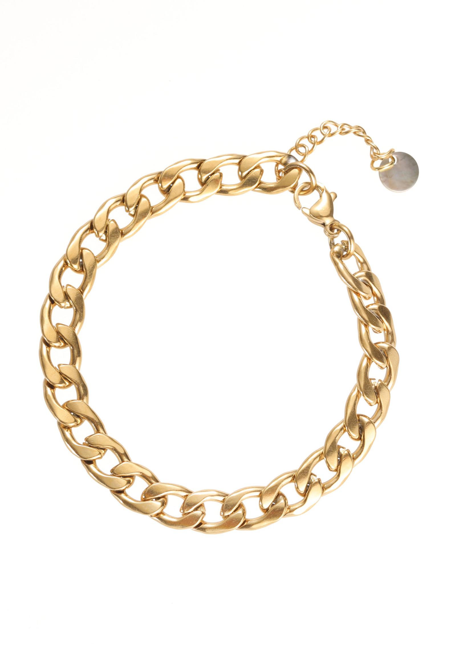 Armband goud grove schakel B1858-2