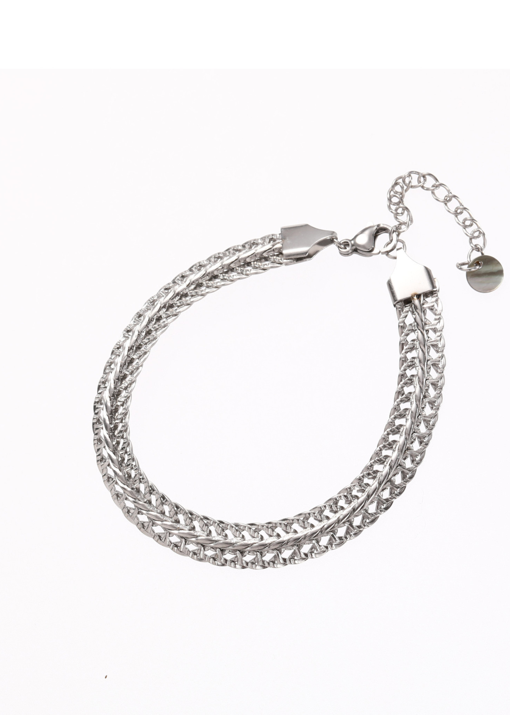 Armband zilver breed B1859-1