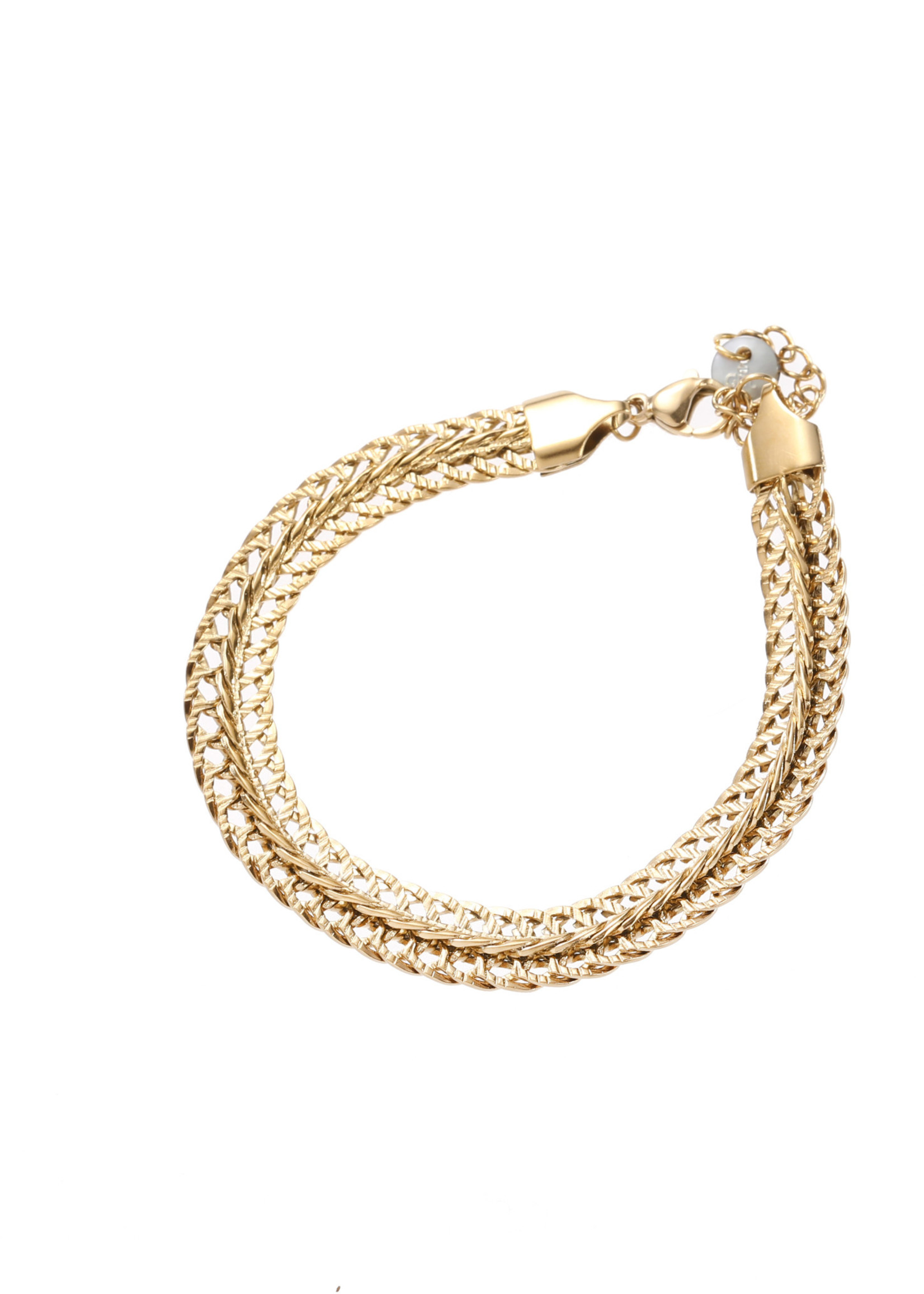 Armband goud breed B1859-2