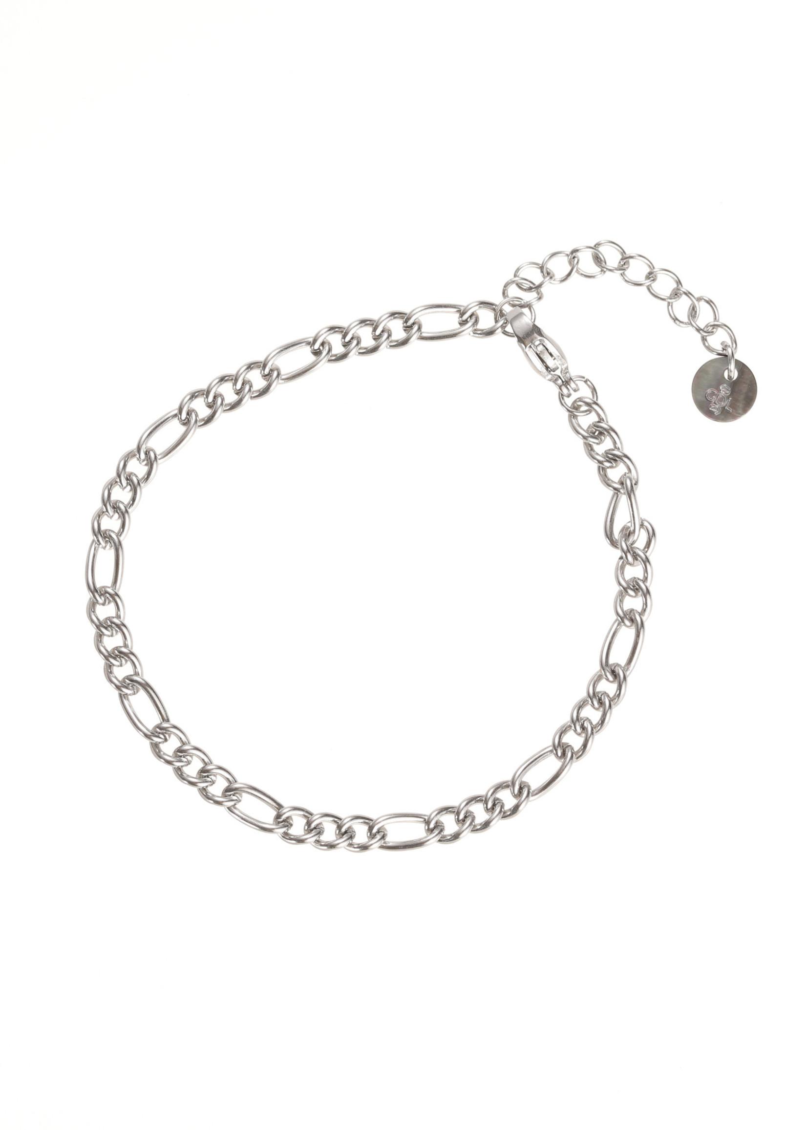 Armband zilver met verschillende schakels B1860-1