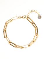 Armband goud ovale schakel B1861-2