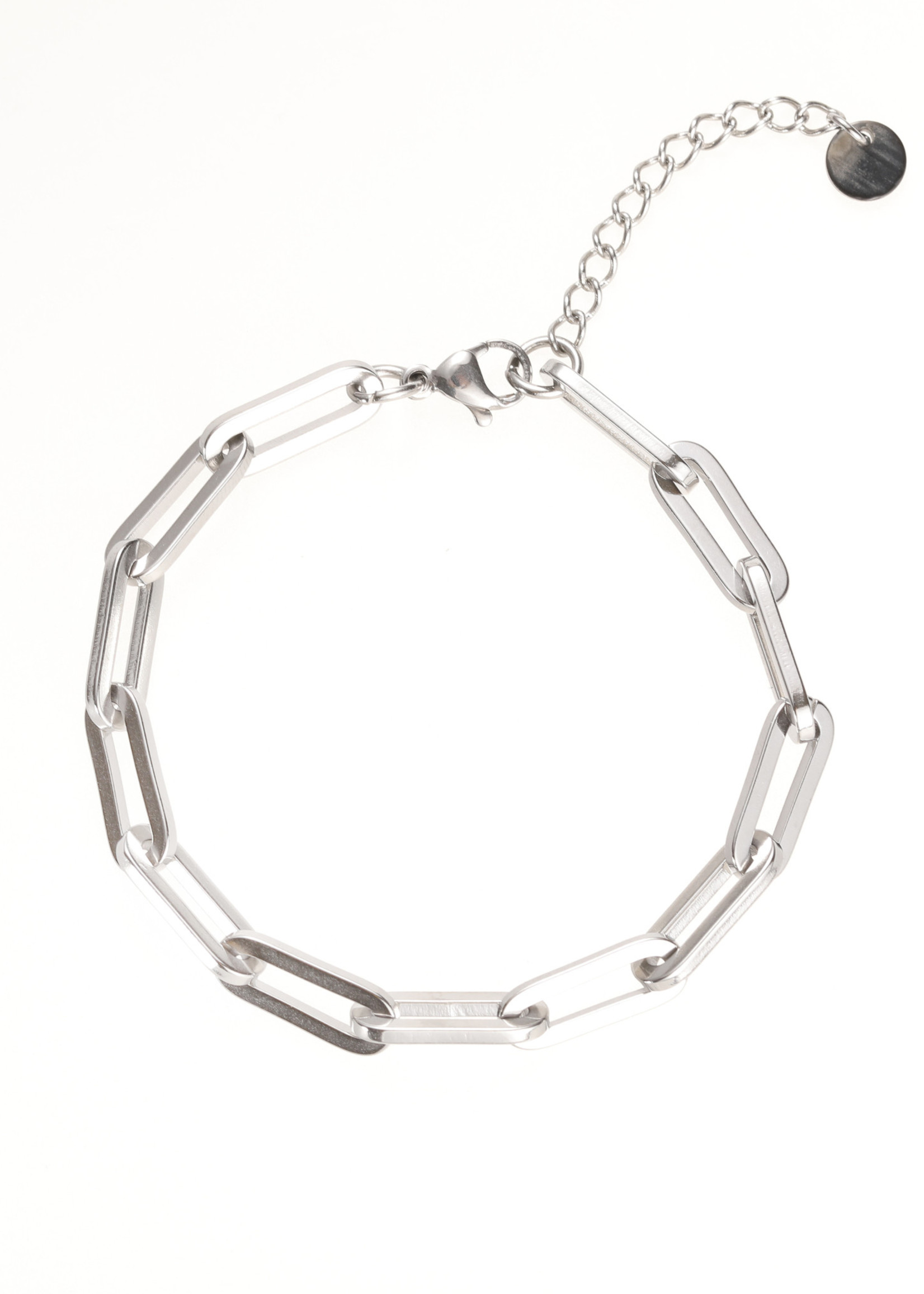 Armband zilver ovale schakel B1861-1