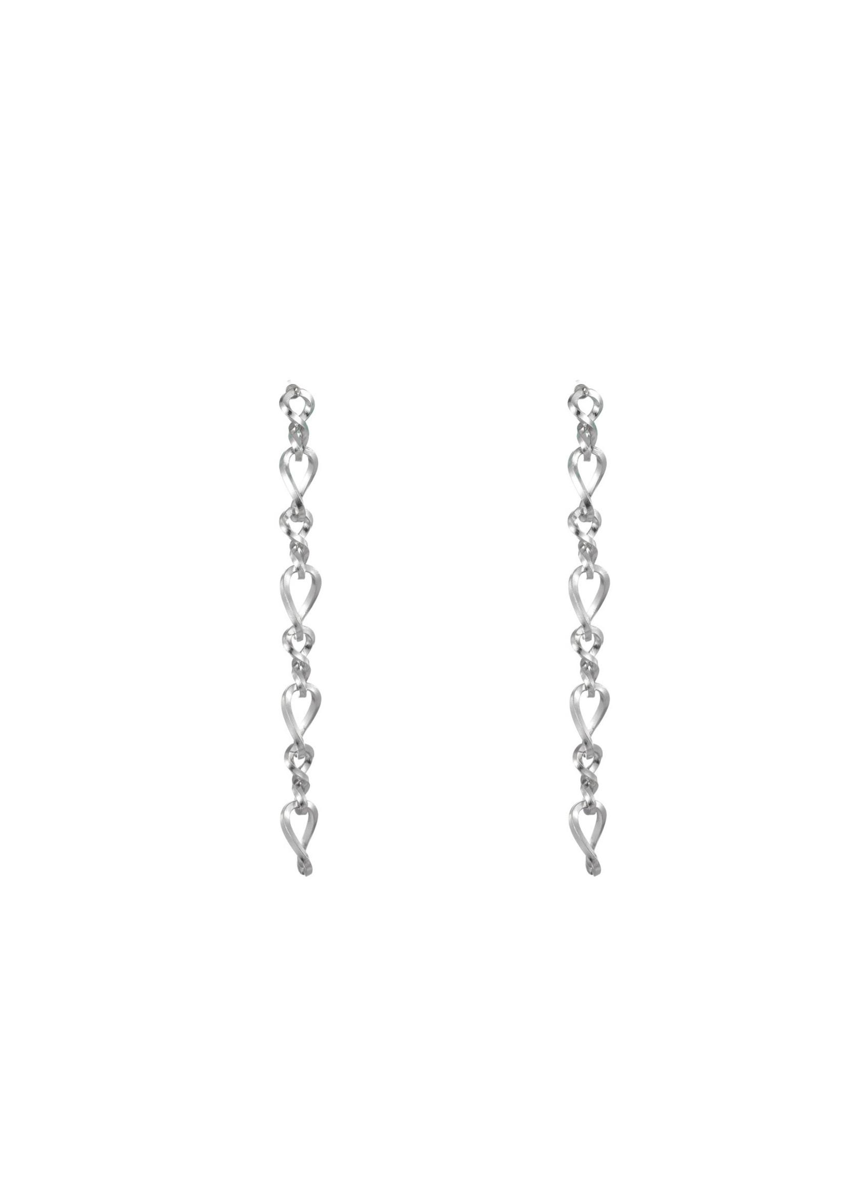 Oorbel zilver schakel E1749-1