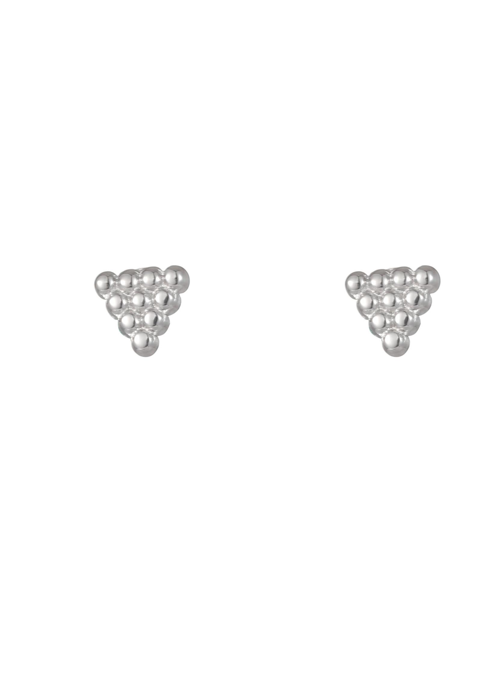 Oorbel zilver driehoek E1750-1