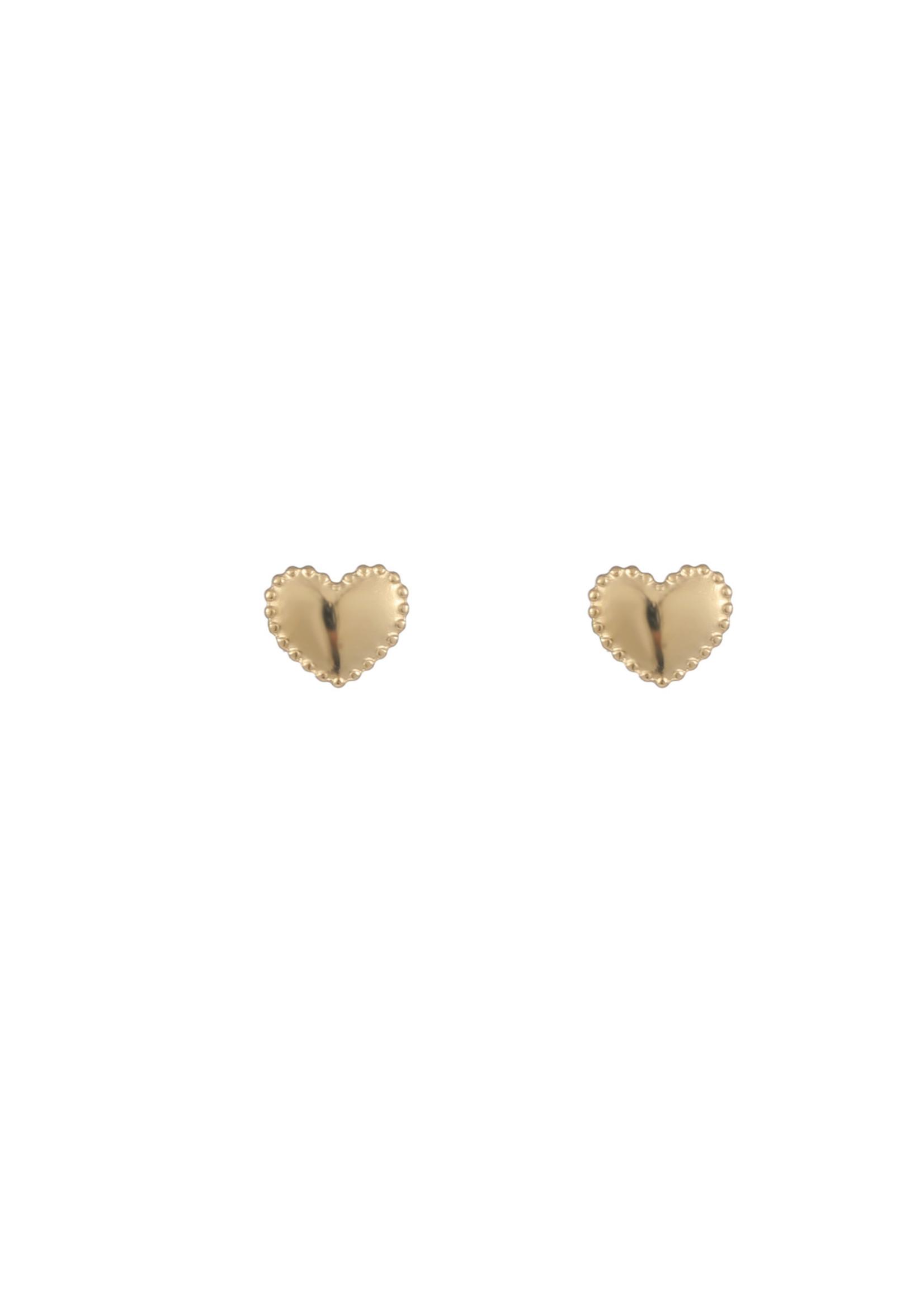 Oorbel goud hartje E1752-2