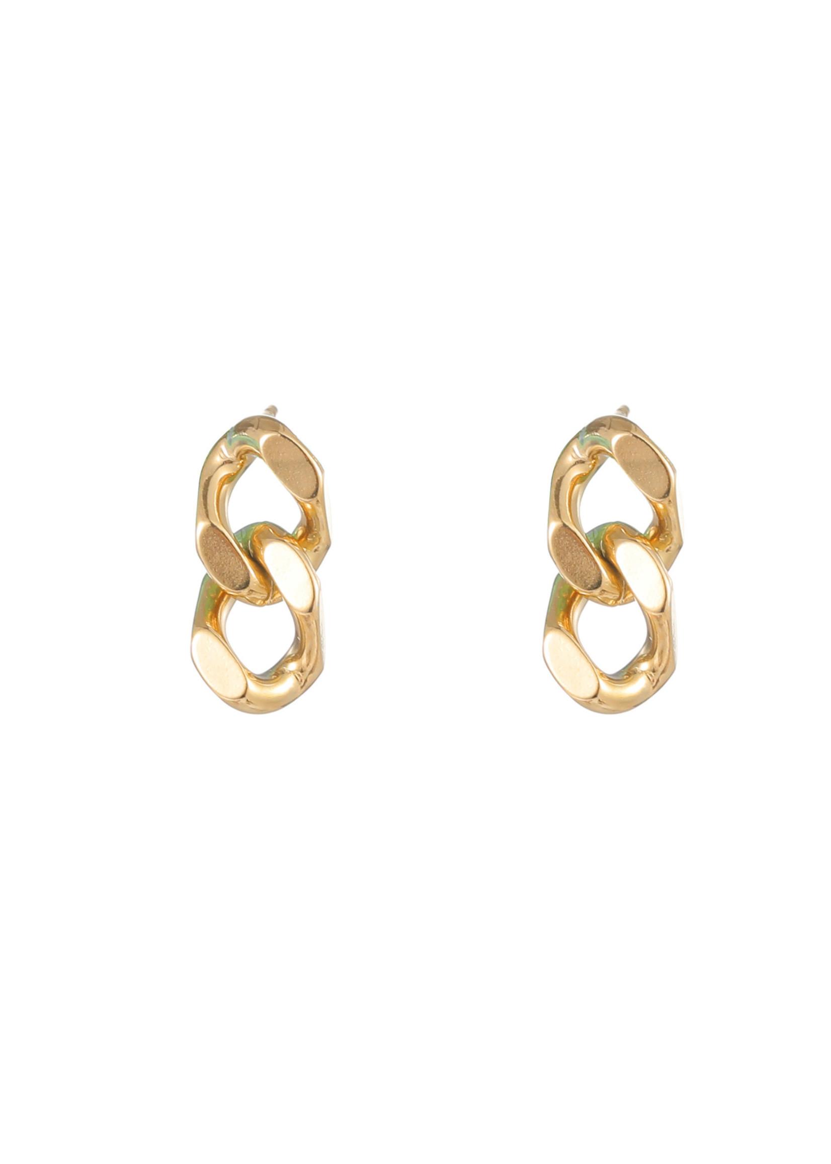 Oorbel goud grove schakel E1757-2