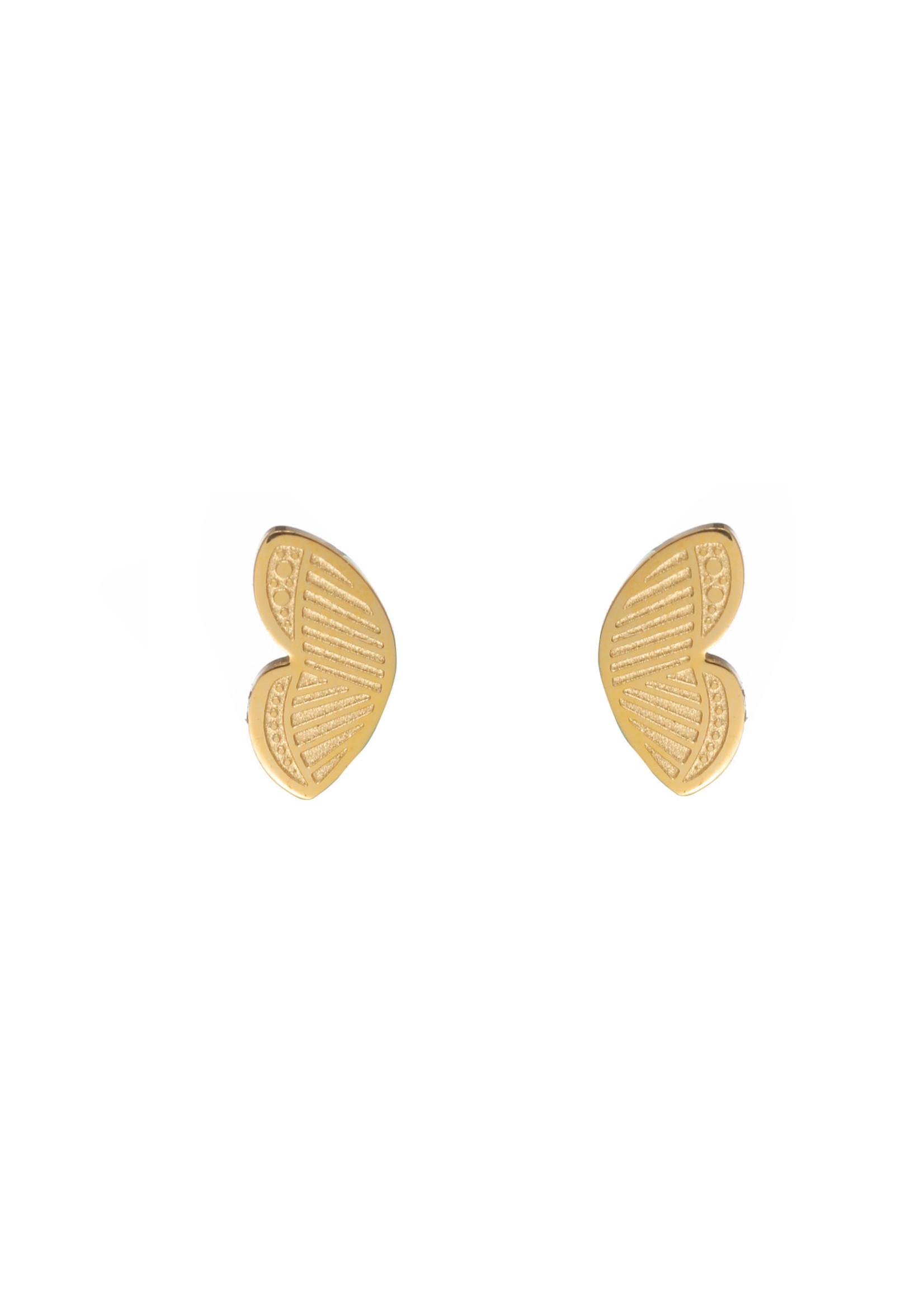 Oorbel goud vlinder E1801-2