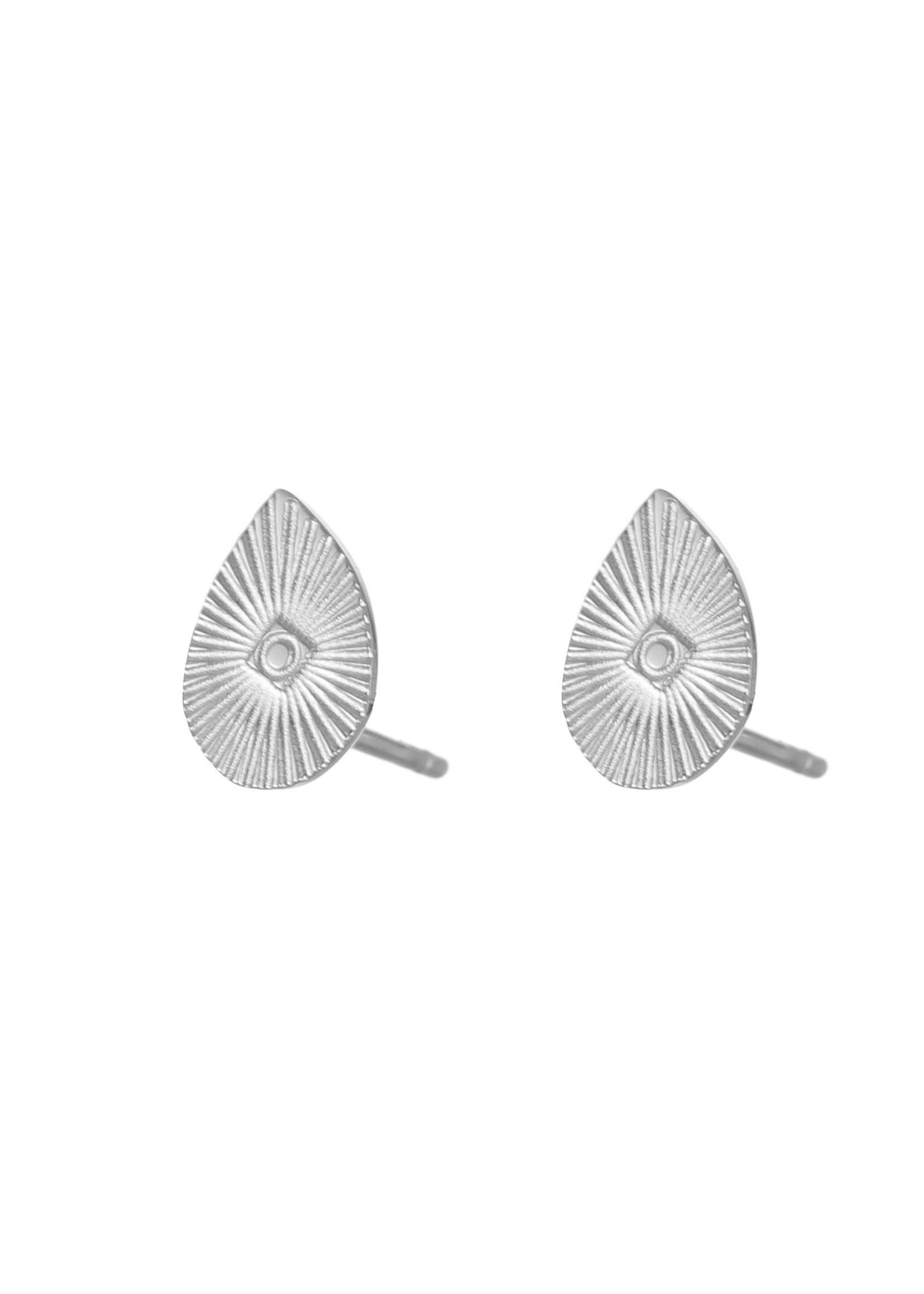 Oorbel zilver druppel E1827-1