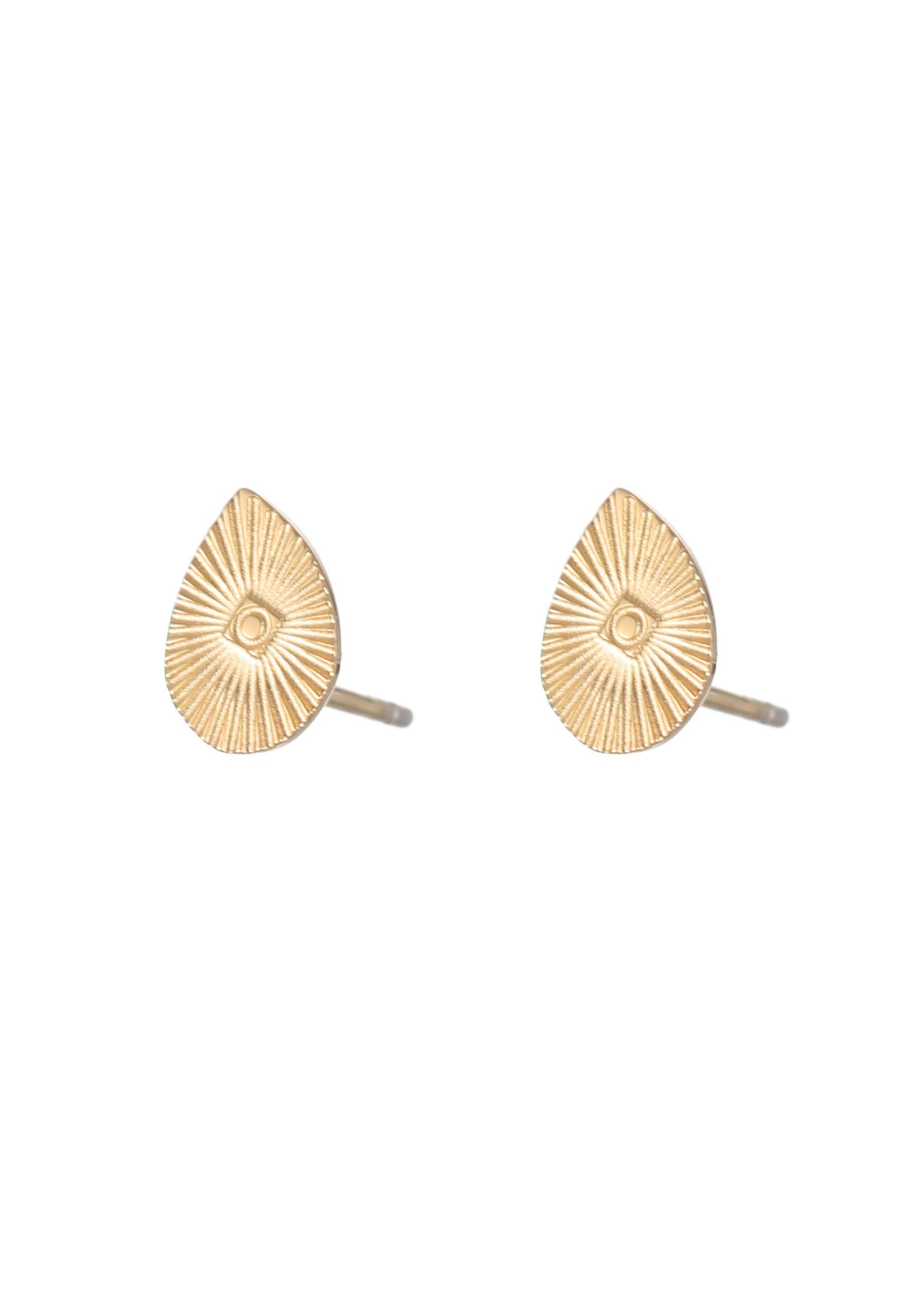 Oorbel goud druppel E1827-2