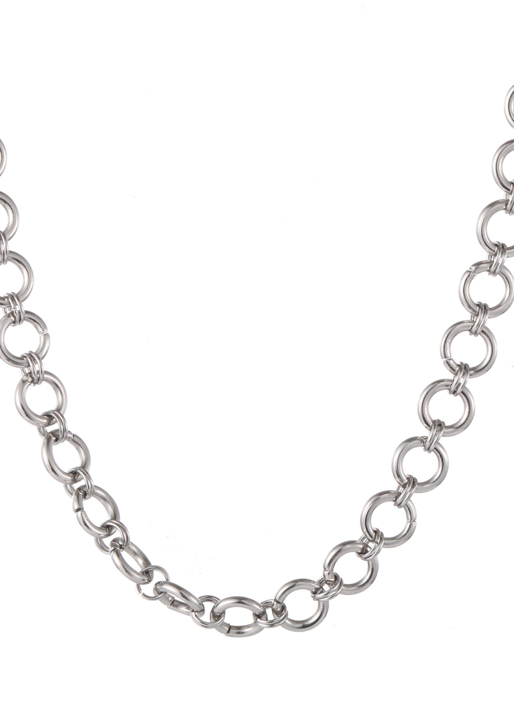 Ketting zilver ronde schakel N1285-1