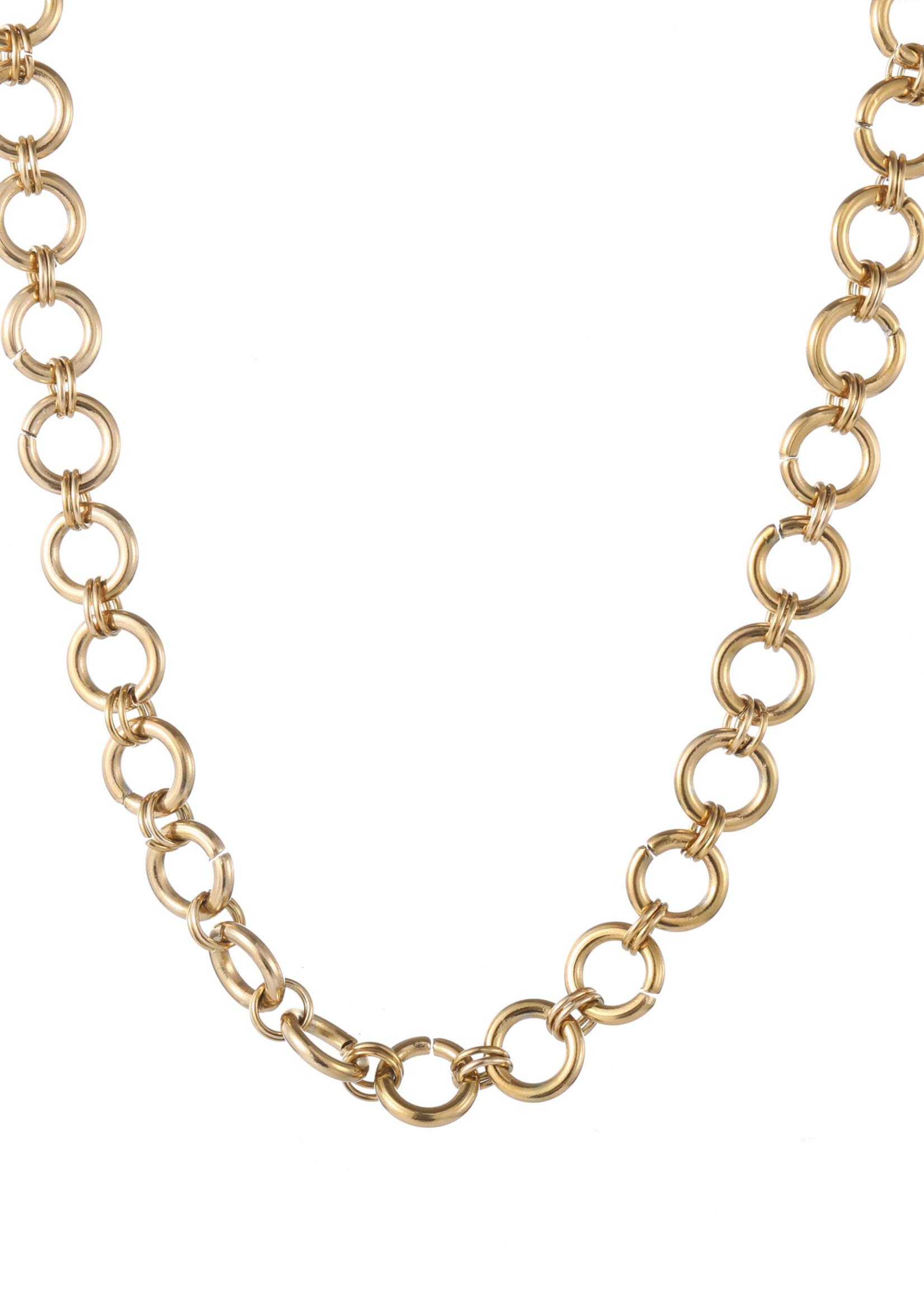 Ketting goud ronde schakel N1285-2