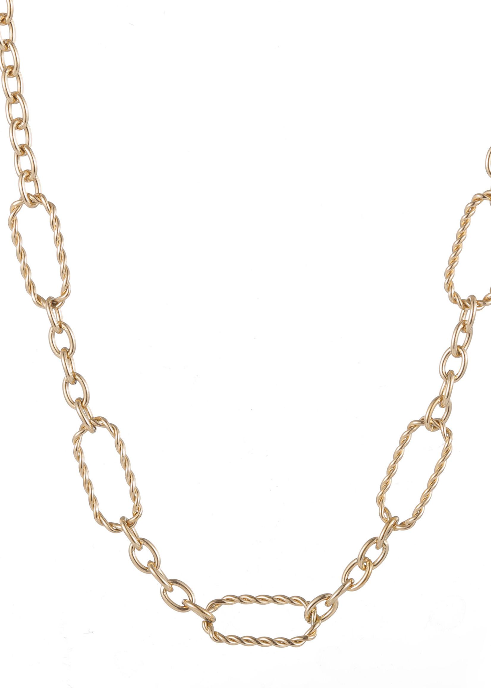 Ketting goud met verschillende schakels N1709-2
