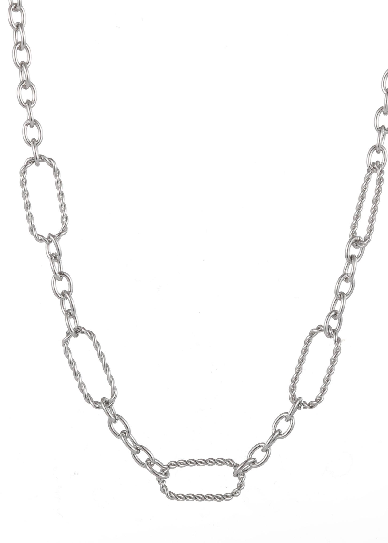 Ketting zilver met verschillende schakels N1709-1