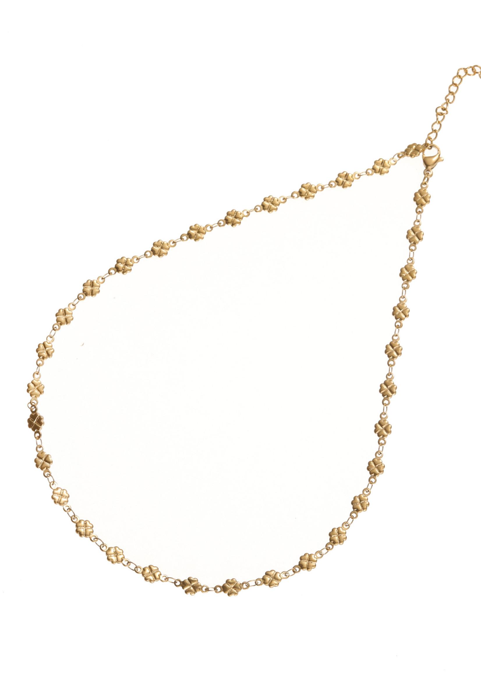 Ketting goud klavertjesvier N1733-2