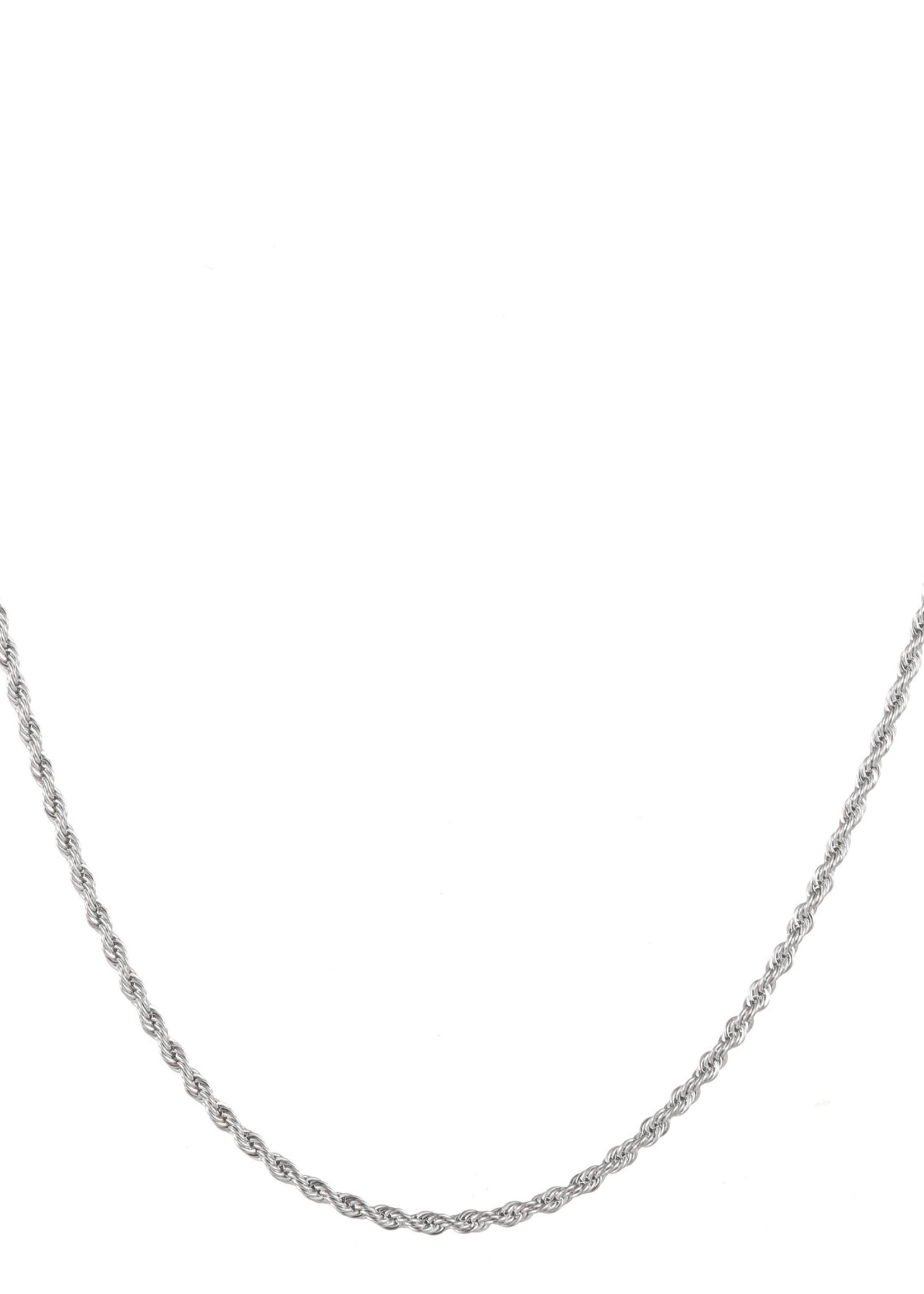 Ketting zilver fijn gedraaid N1771-1