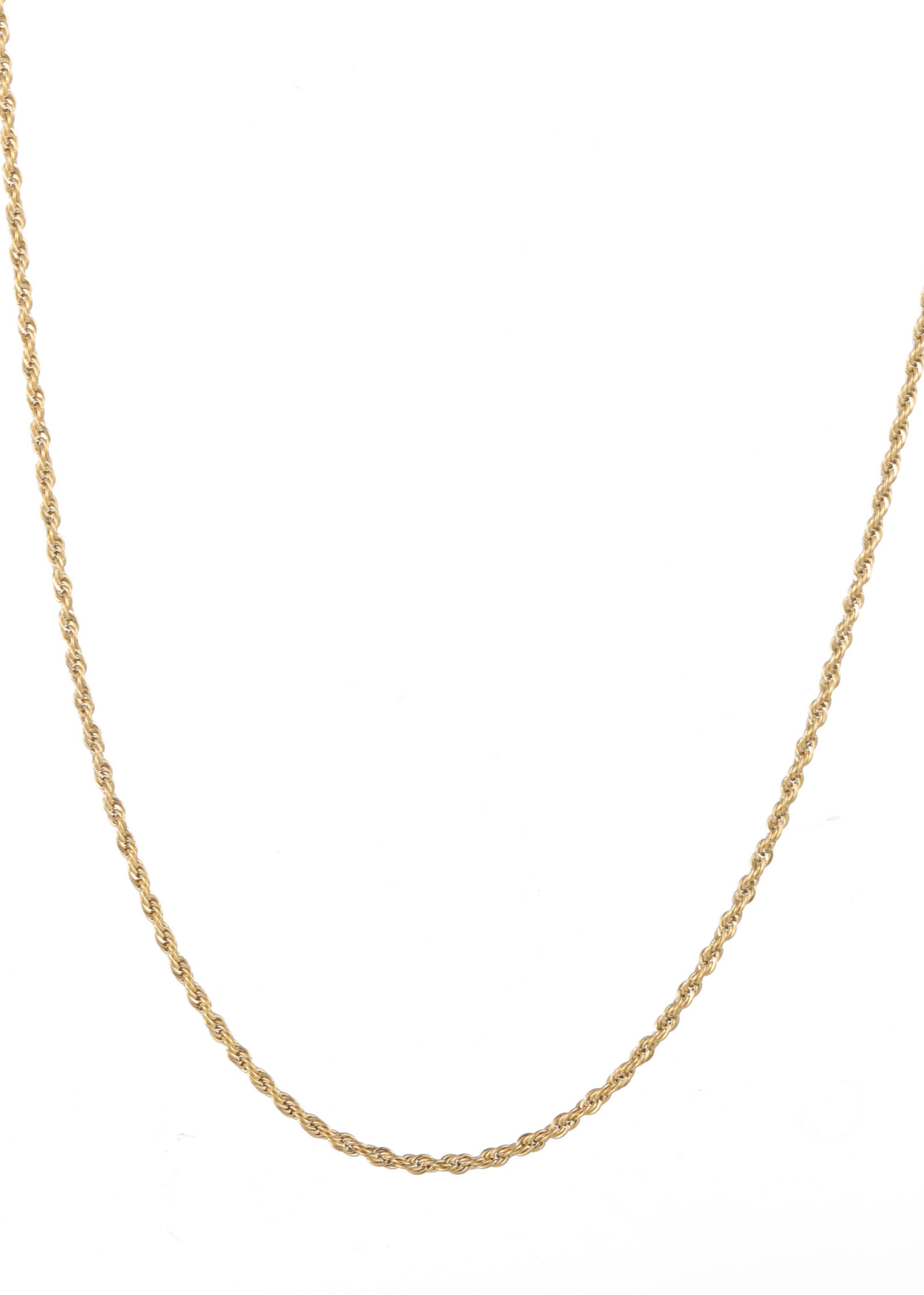 Ketting goud fijn gedraaid N1771-2