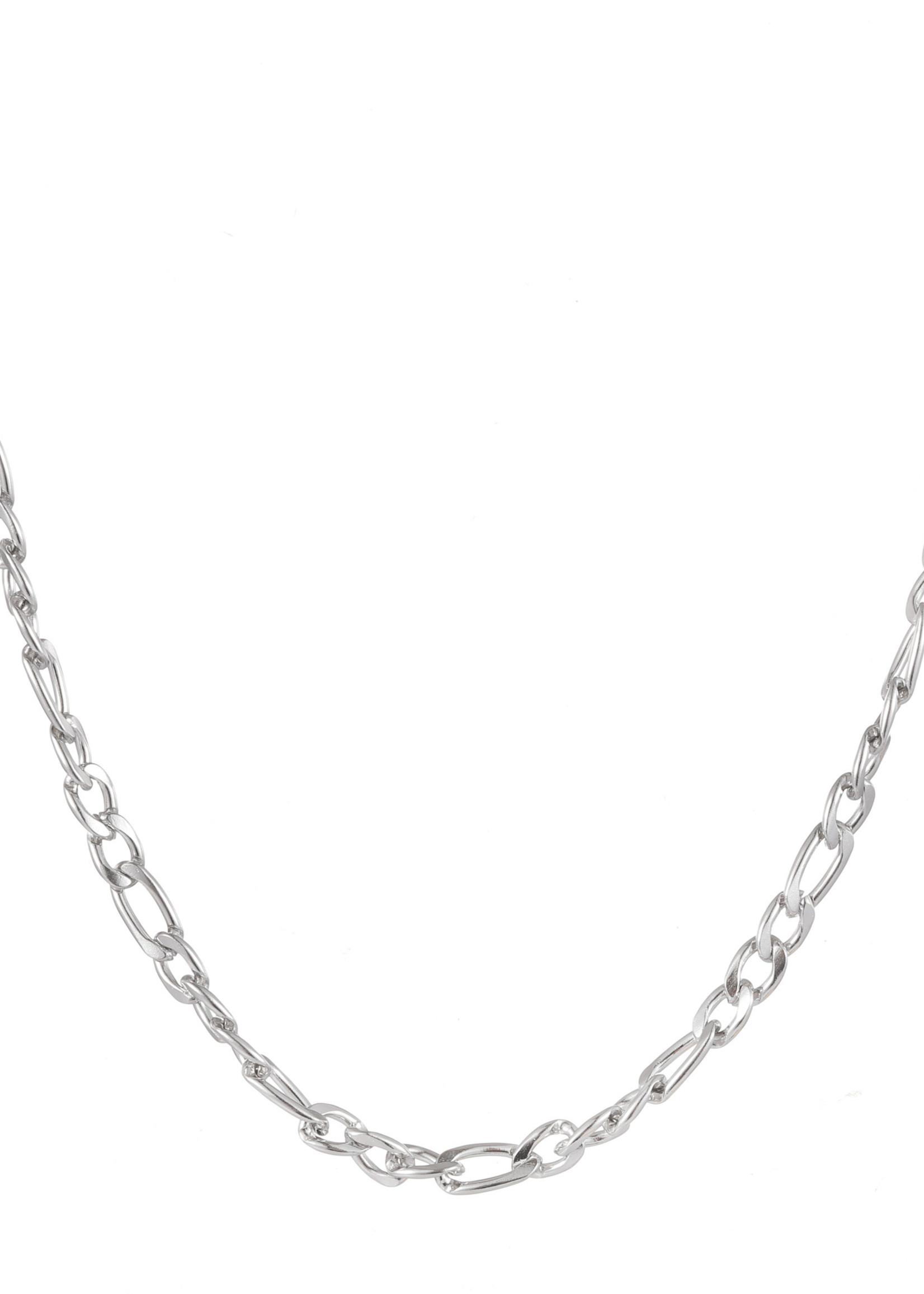 Ketting zilver met verschillende schakels N1772-1