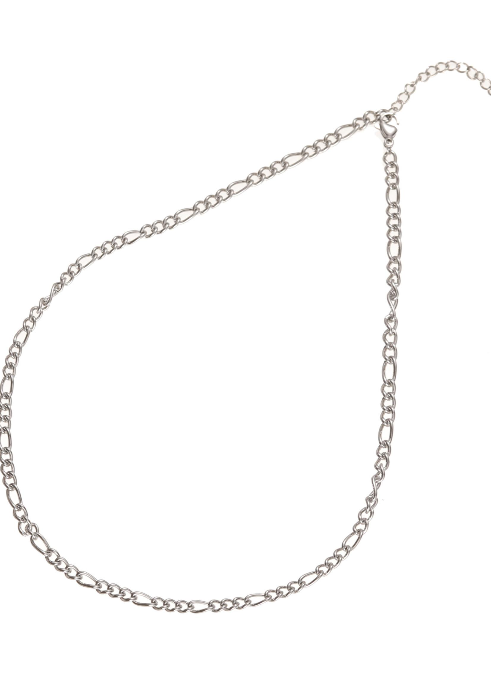 Ketting zilver met verschillende schakels N1860-1