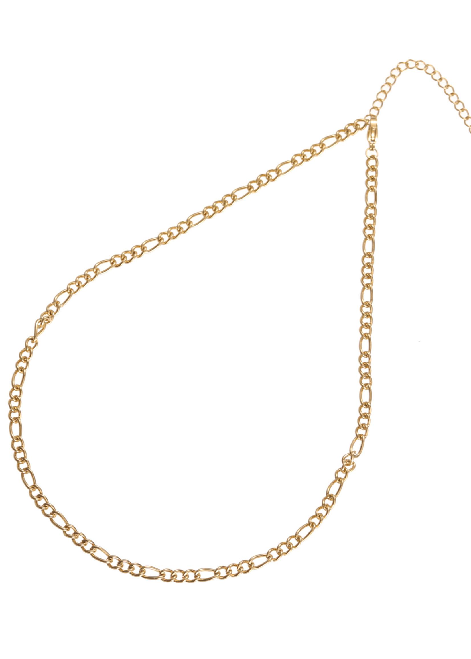 Ketting goud met verschillende schakels N1860-2