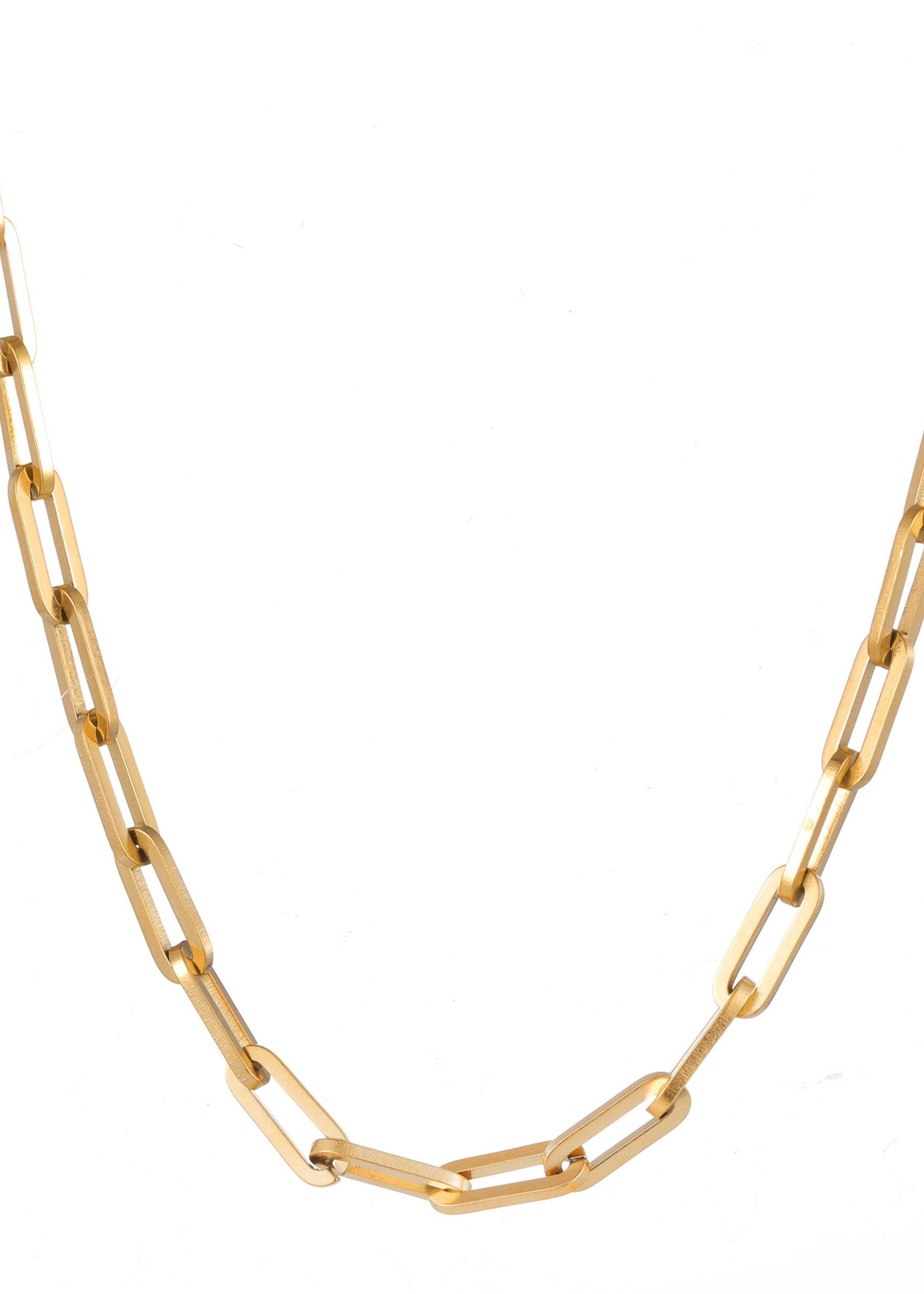 Ketting goud ovale schakel N1861-2