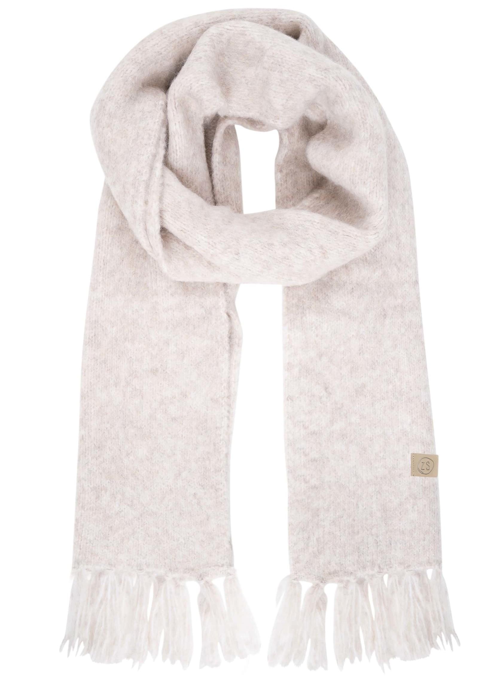 ZUSSS sjaal met franjes crème