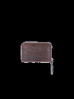 LouLou Kleine RFID Portemonnee Vintage Croco - Cacao