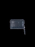 LouLou Kleine RFID Portemonnee Vintage Croco - Zwart