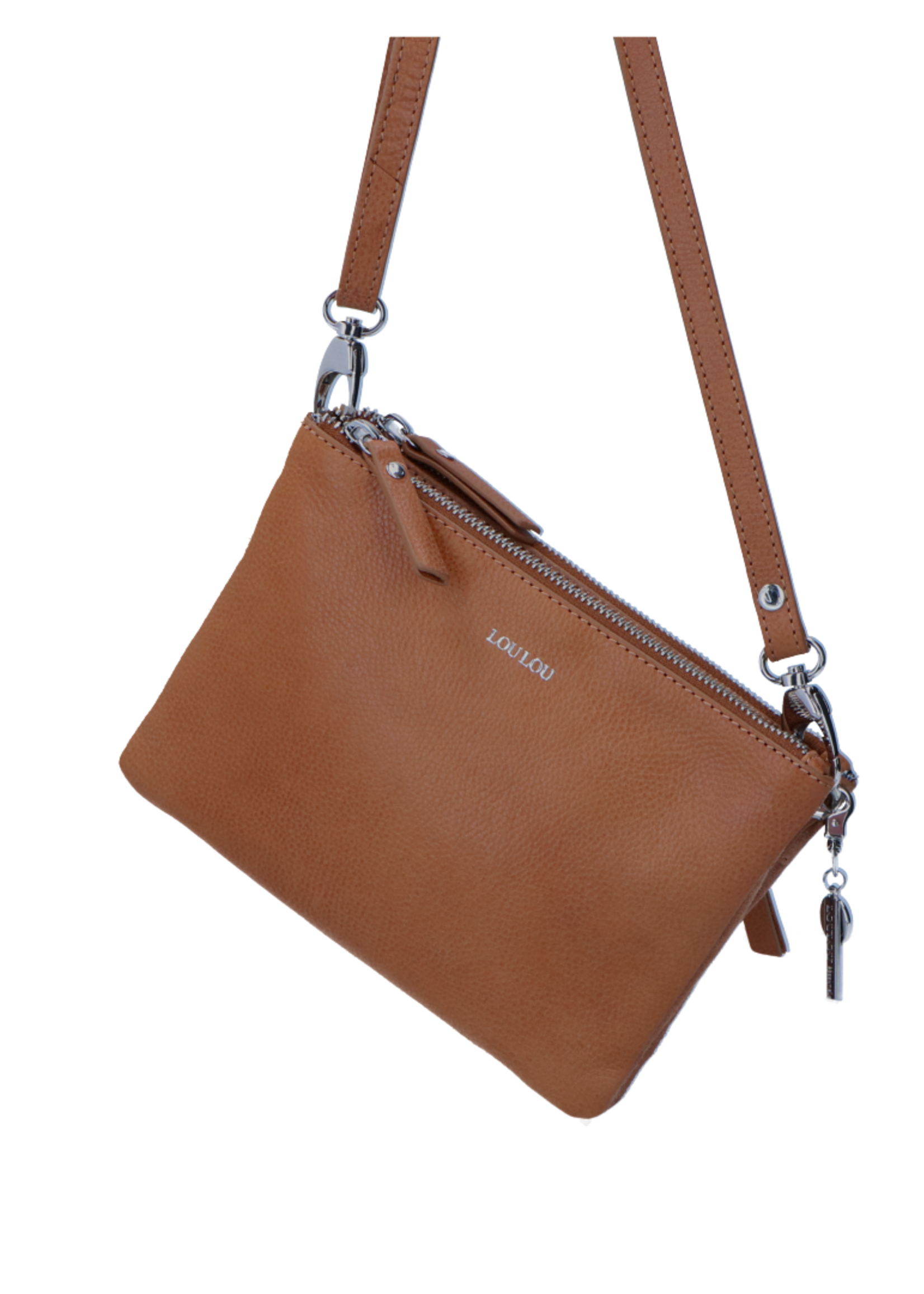 LouLou Crossbody Clutch wallet Robuste - Cognac