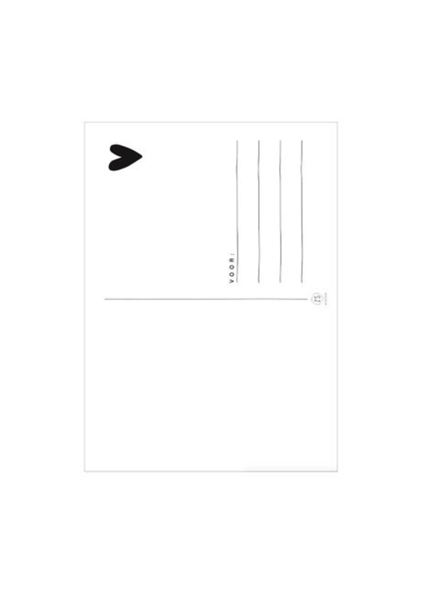 ZUSSS kaart bedankt gespikkeld wit