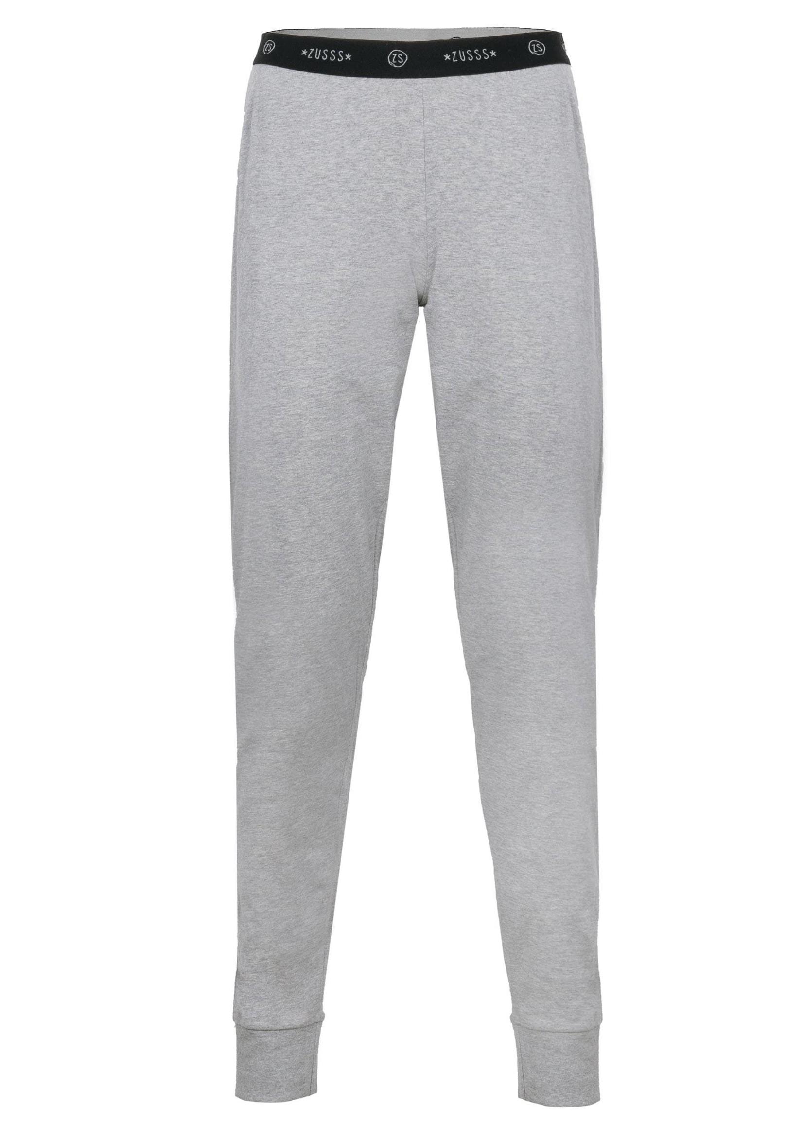 ZUSSS fijne pyjamabroek antracietgrijs