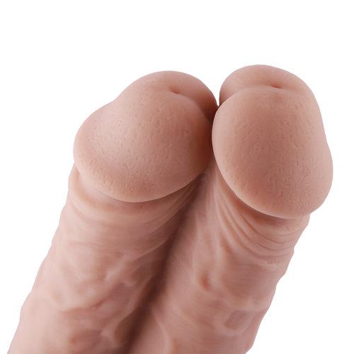 Dildo Dubbel KlicLok Medium 15-20 CM Nude