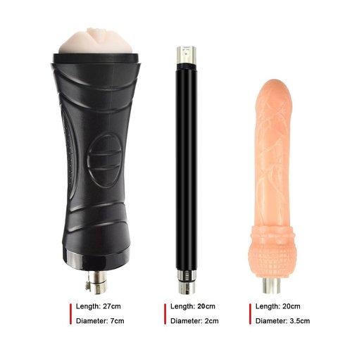 Pakket Koppels Auxfun Basic Seksmachine met Dildo en vele extra's