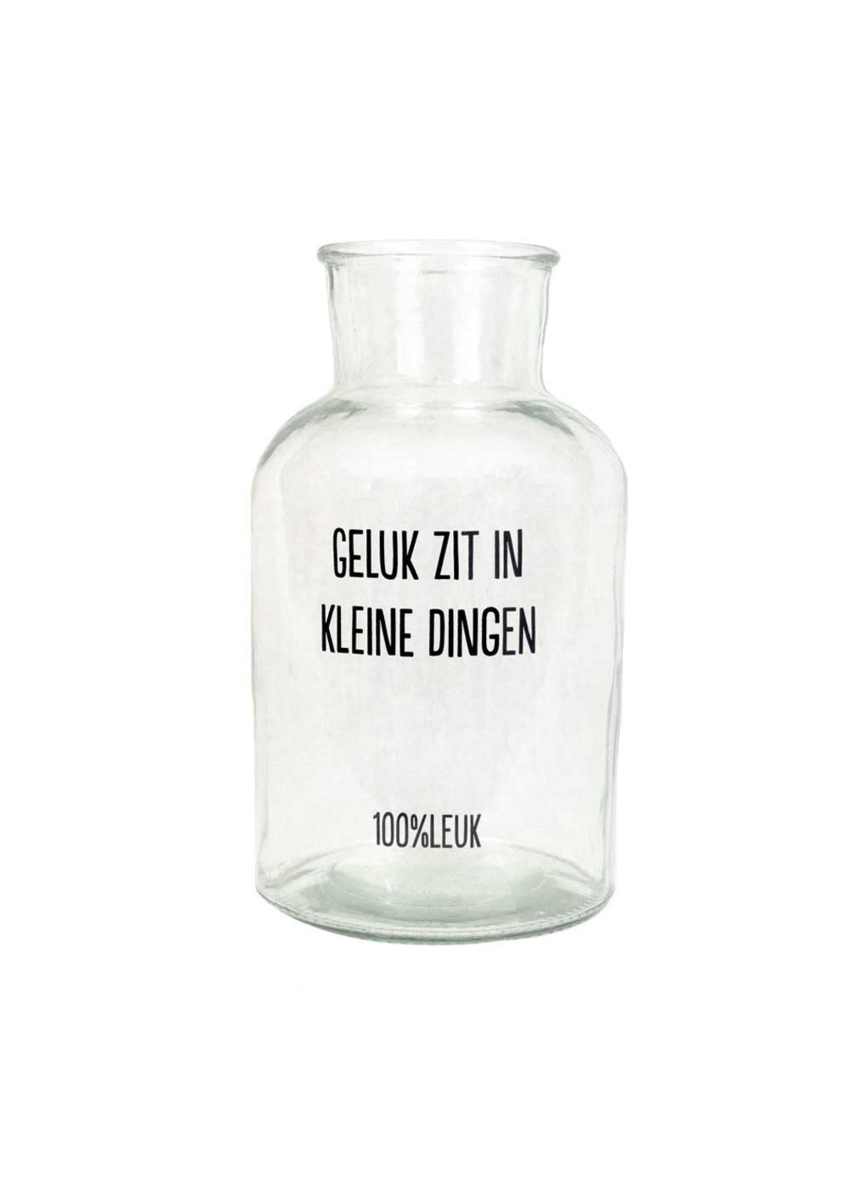 100% Leuk Glazen pot - Het zijn de kleine dingen