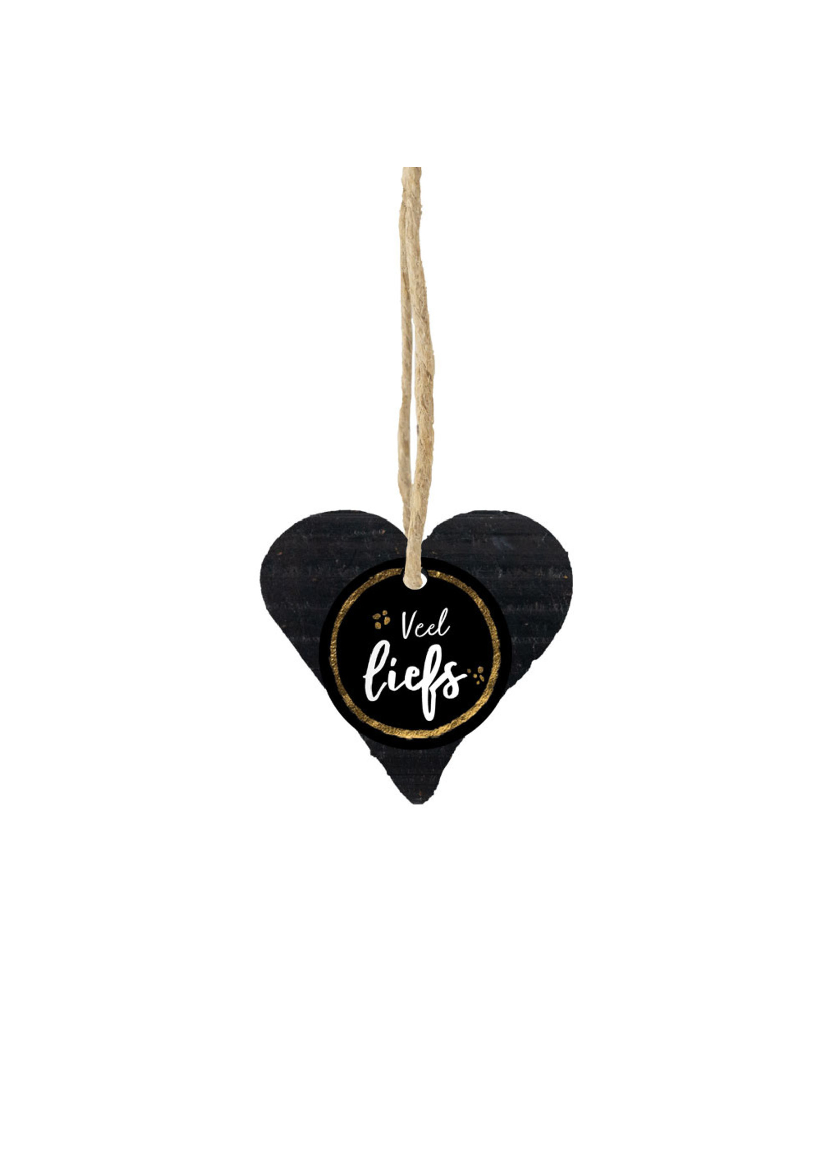 100% Leuk Zeep hart zwart - Liefde