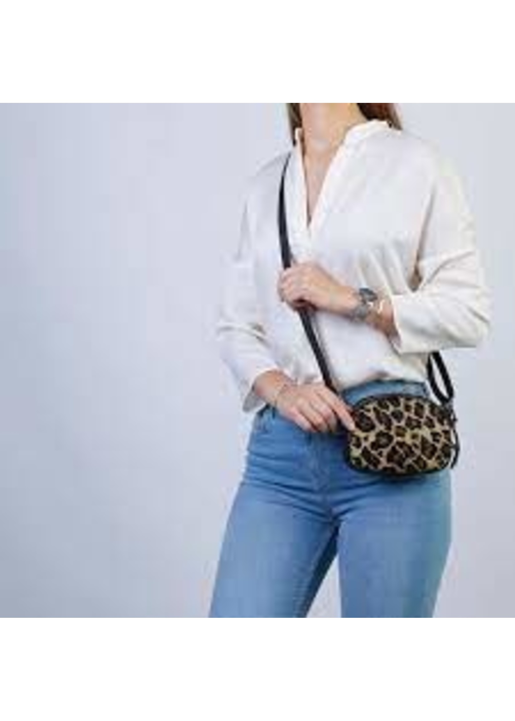 Chabo Bags Chabo Bags Skin Panther Crossbody - beige,bruin