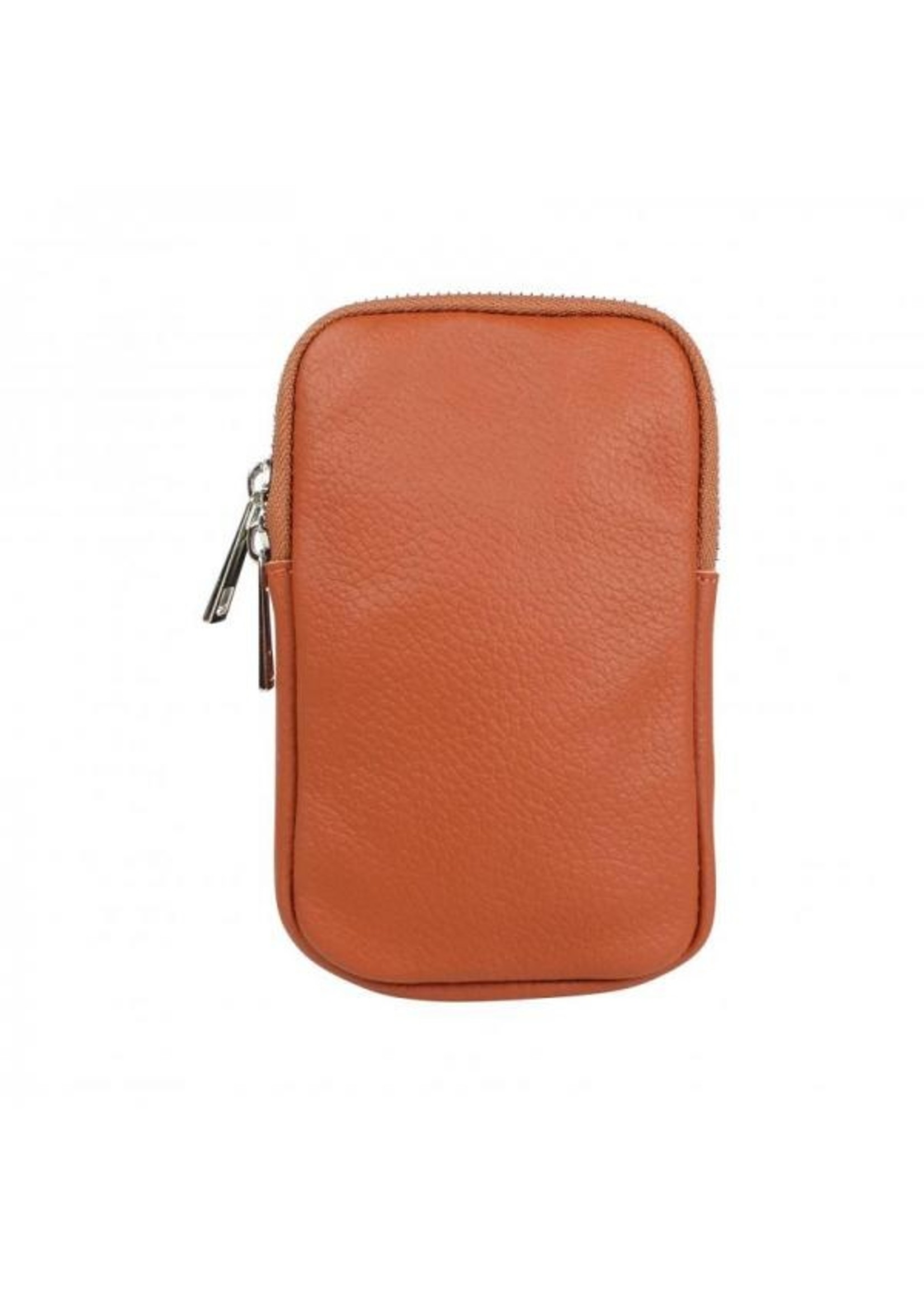 Baggyshop Call me up leather - Roest (zilver)