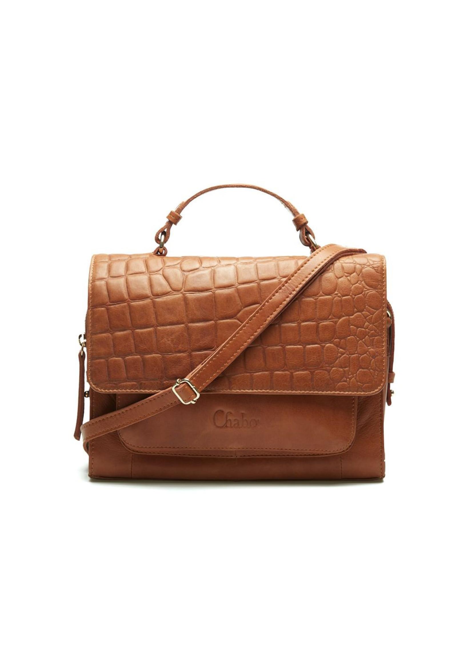 Chabo Bags Amy Croco Handbag Camel