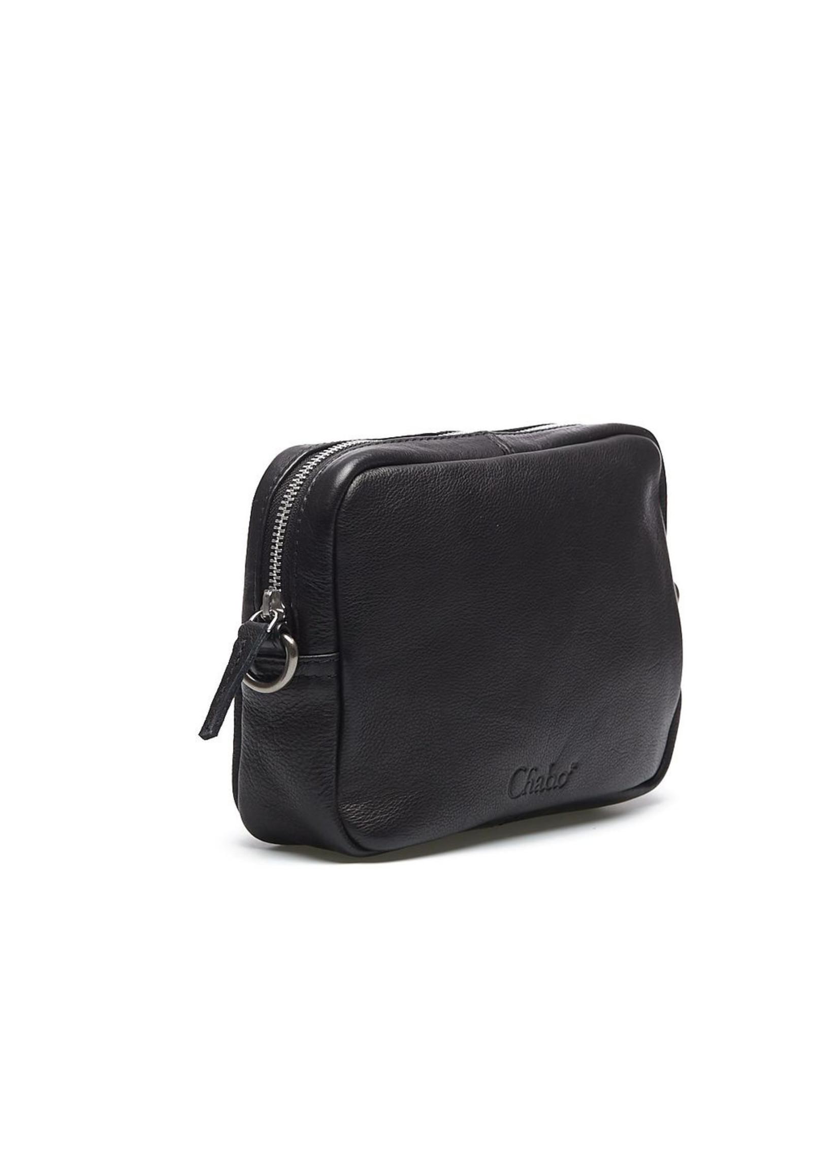 Chabo Bags Iggy Silver Crossover tas Zwart