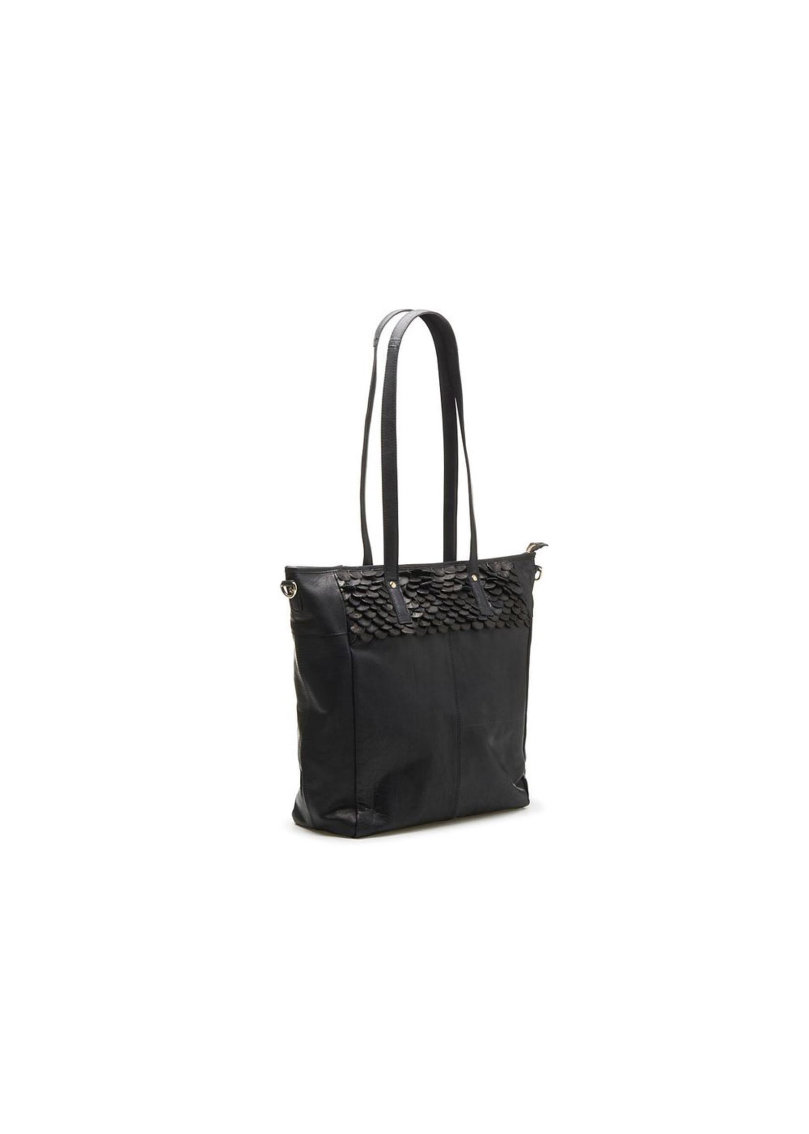 Chabo Bags Oasis Big Black-Gold Shopper Zwart