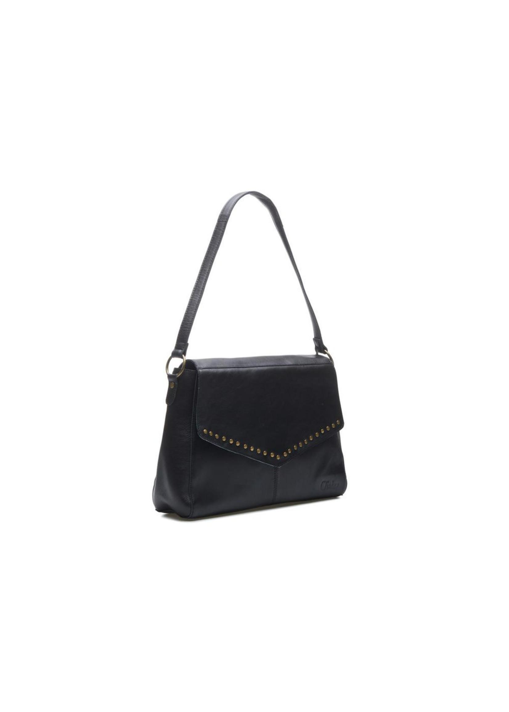 Chabo Bags Susy Studs BIG Fashion Bag Zwart