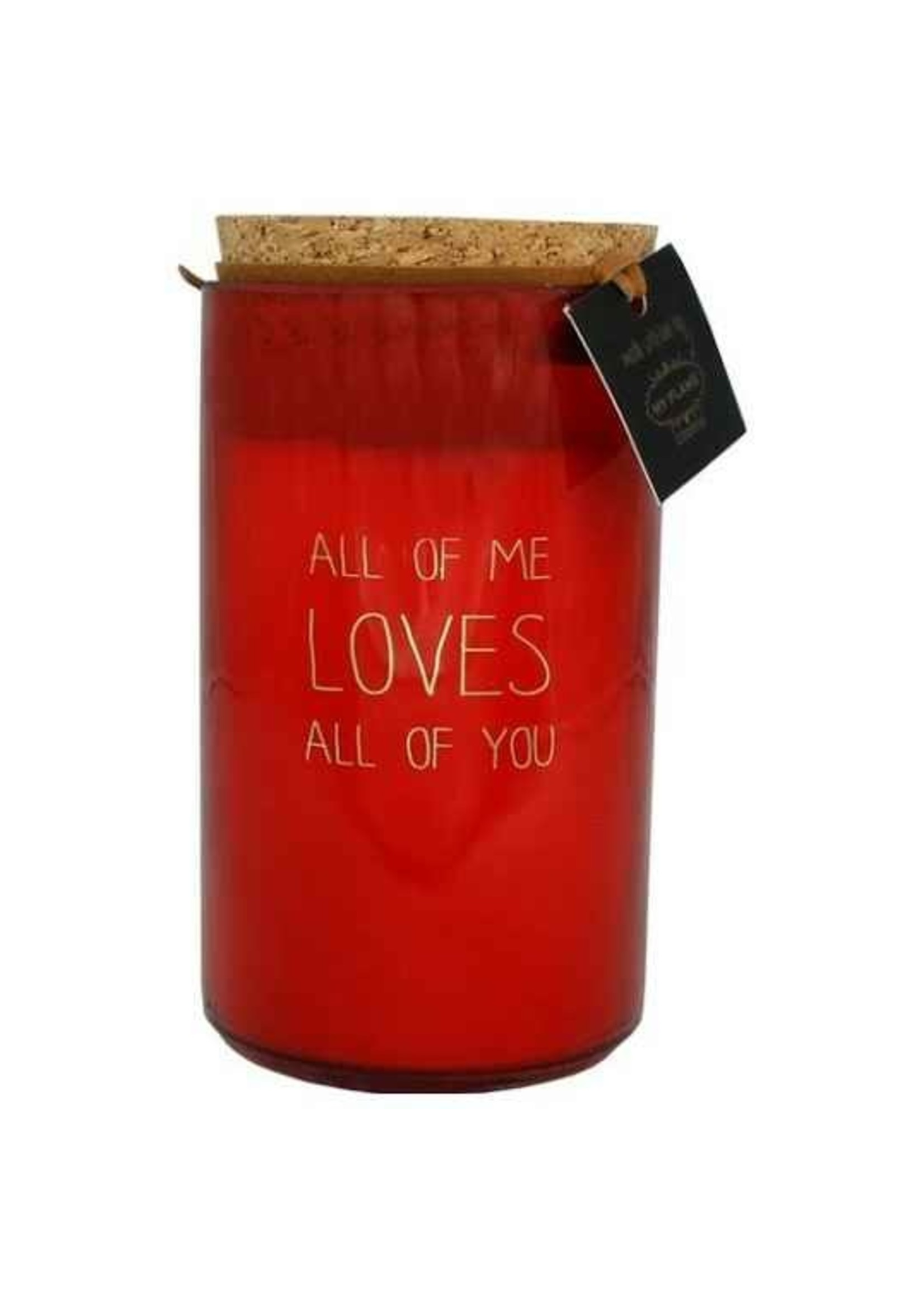 My Flame Geurkaars All of me loves all of you