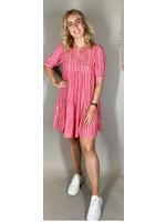 Sisterspoint Ibon rood/witte jurk