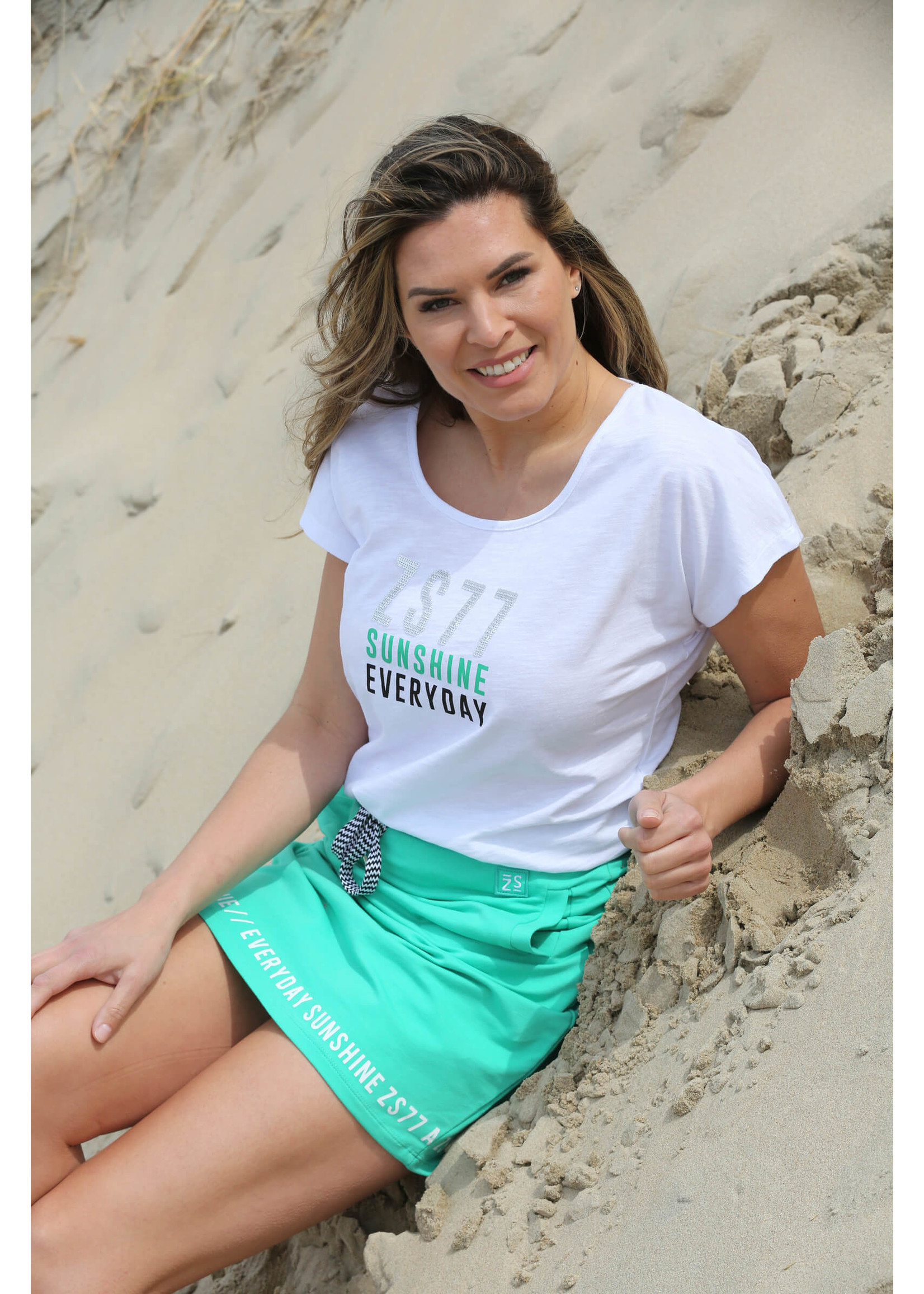 Zoso Mia Sporty sweat skirt with print