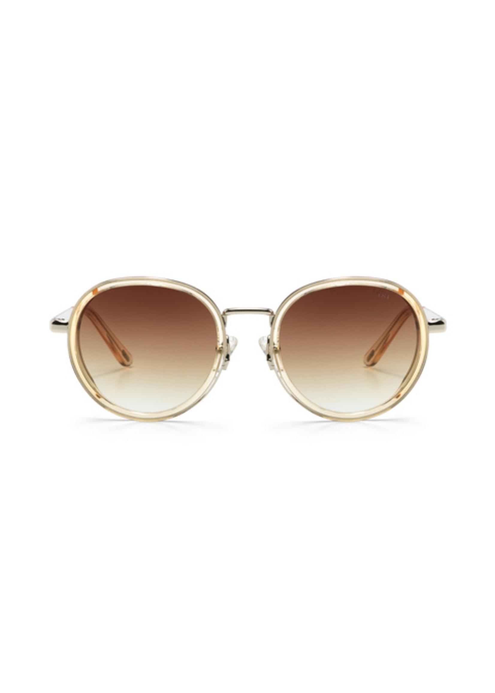 Ikki zonnebril transparent gold gradient brown