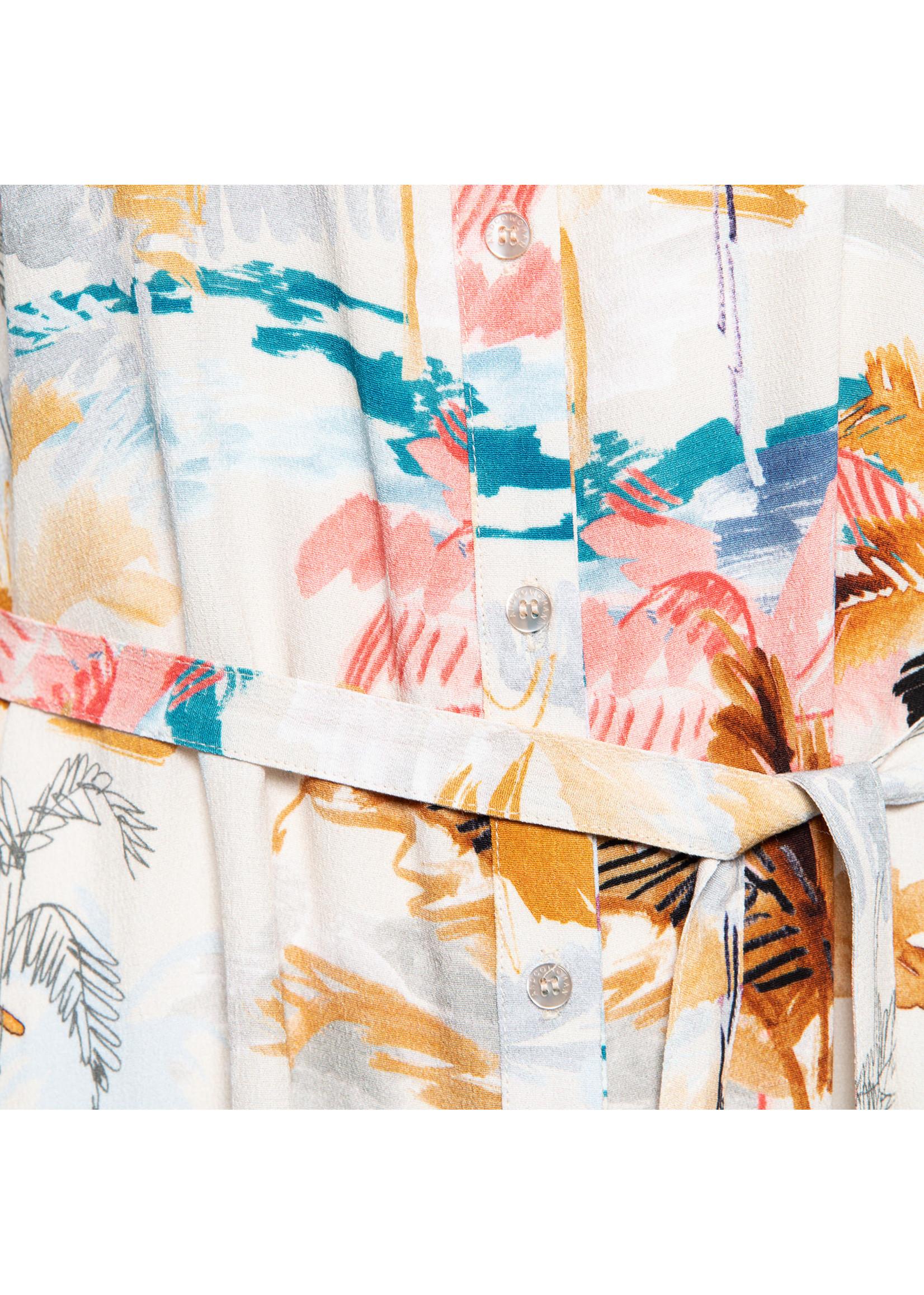 &Co Women Amalia lingdress multi palm (m.sand)