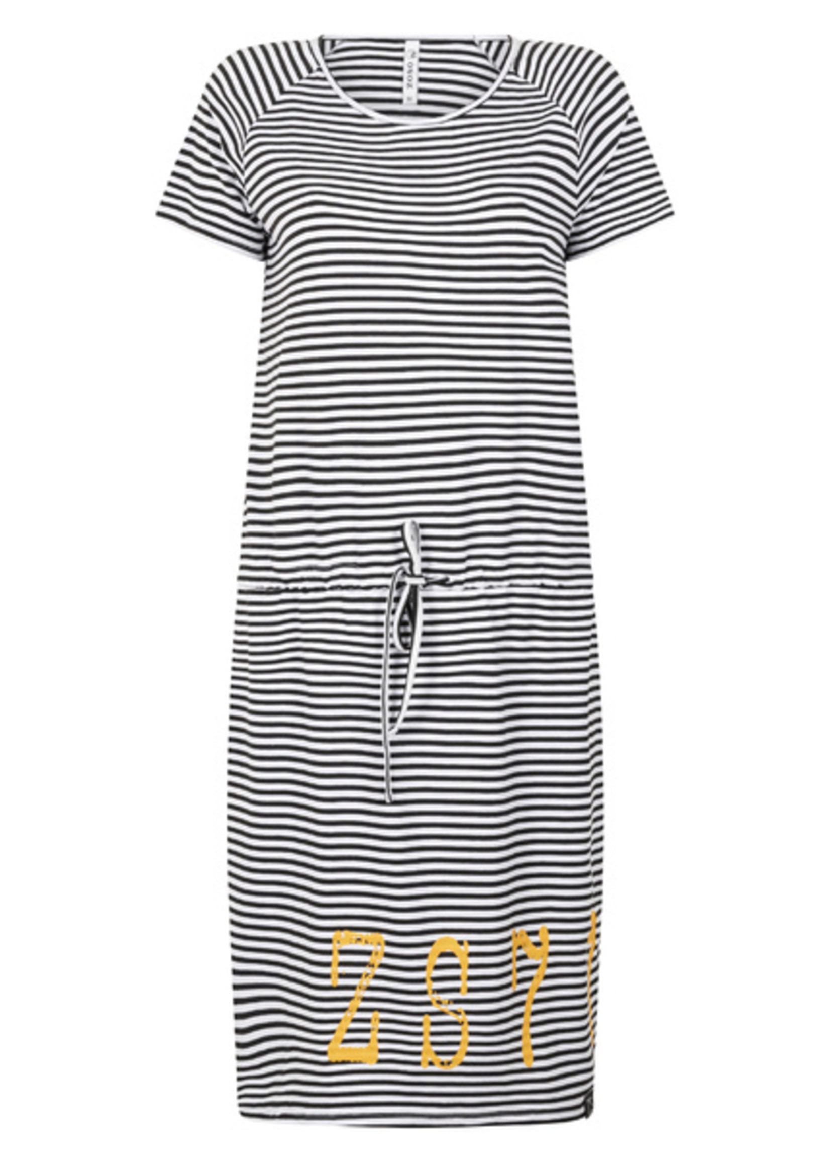 Zoso Chelsey Striped dress with print