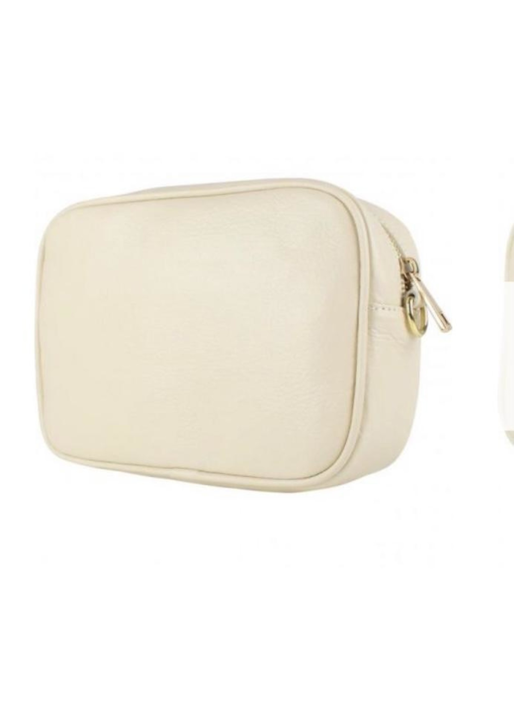 Baggyshop Good to be back beige gouden rits