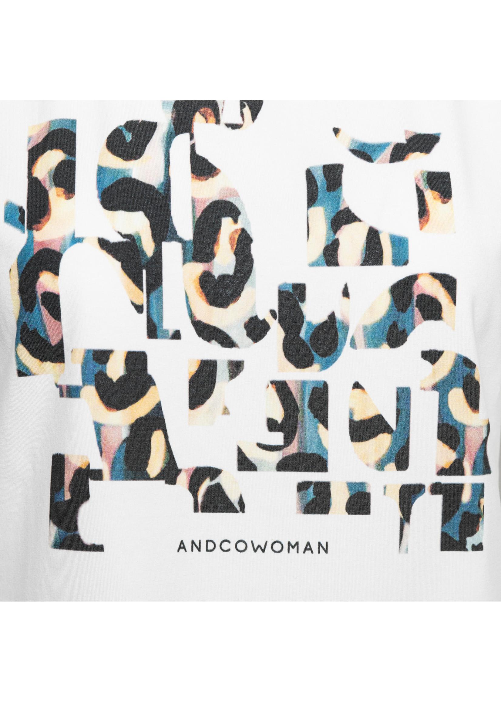 &Co Women steffy letter t-shirt (off white)
