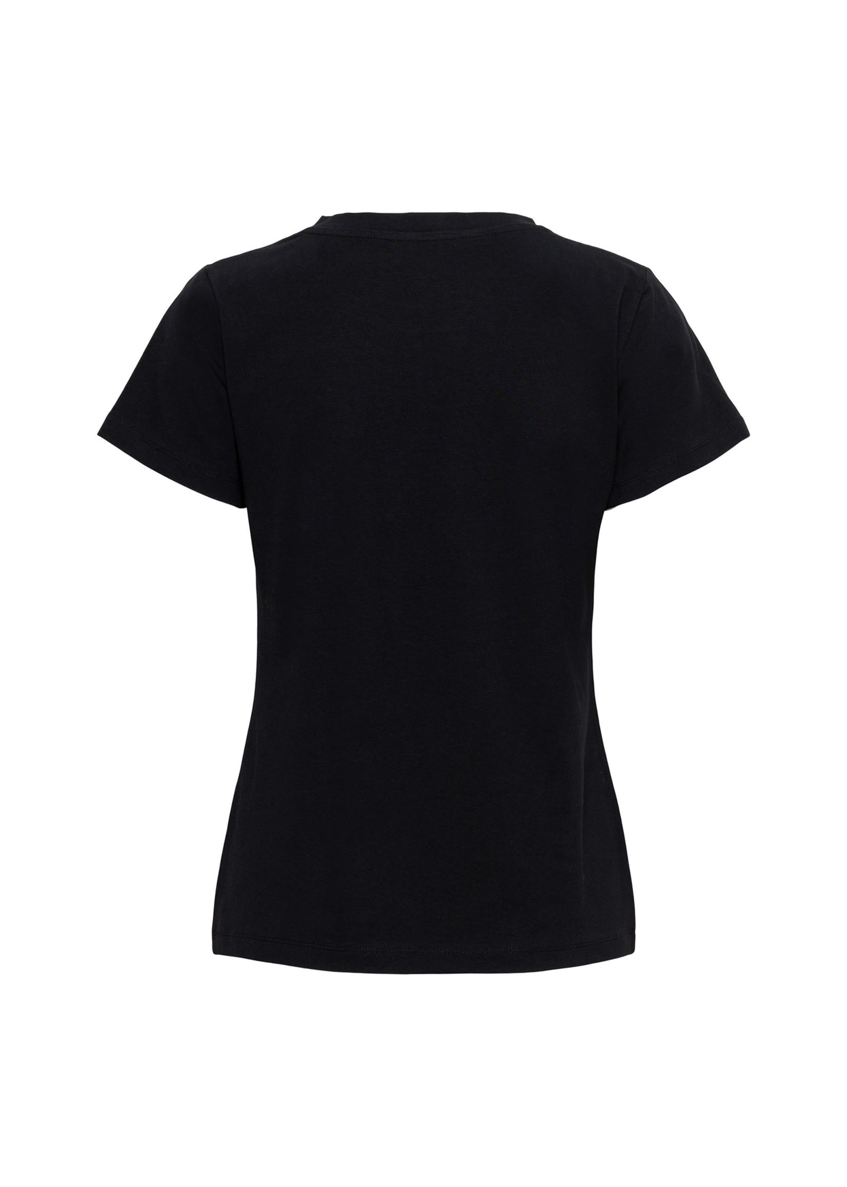 &Co Women steffy letter t-shirt (black)