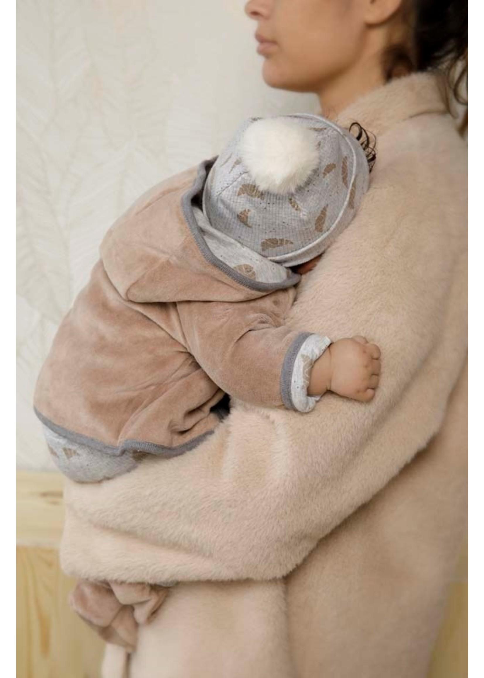 Feetje Omkeerbaar jasje met capuchon - Little Croissant